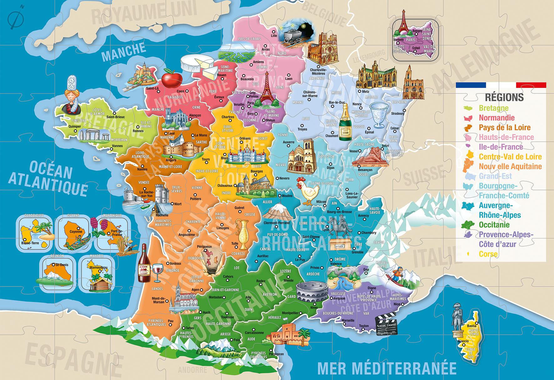 Puzzle Departements De La France 150 P K654456 - Frimaudeau Btoc avec Puzzle Des Départements Français