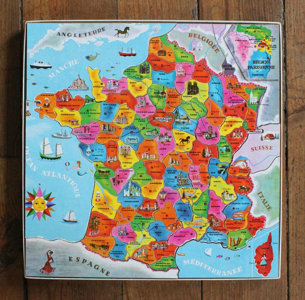 Puzzle Departements Francais | Jeux De Puzzle, Les Régions encequiconcerne Jeux Des Départements Français