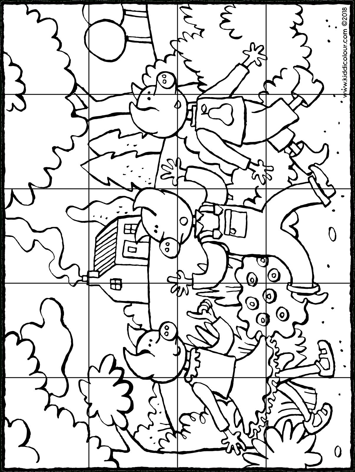 Puzzle Des Trois Petits Cochons - Kiddicoloriage à Dessin Cochon A Colorier