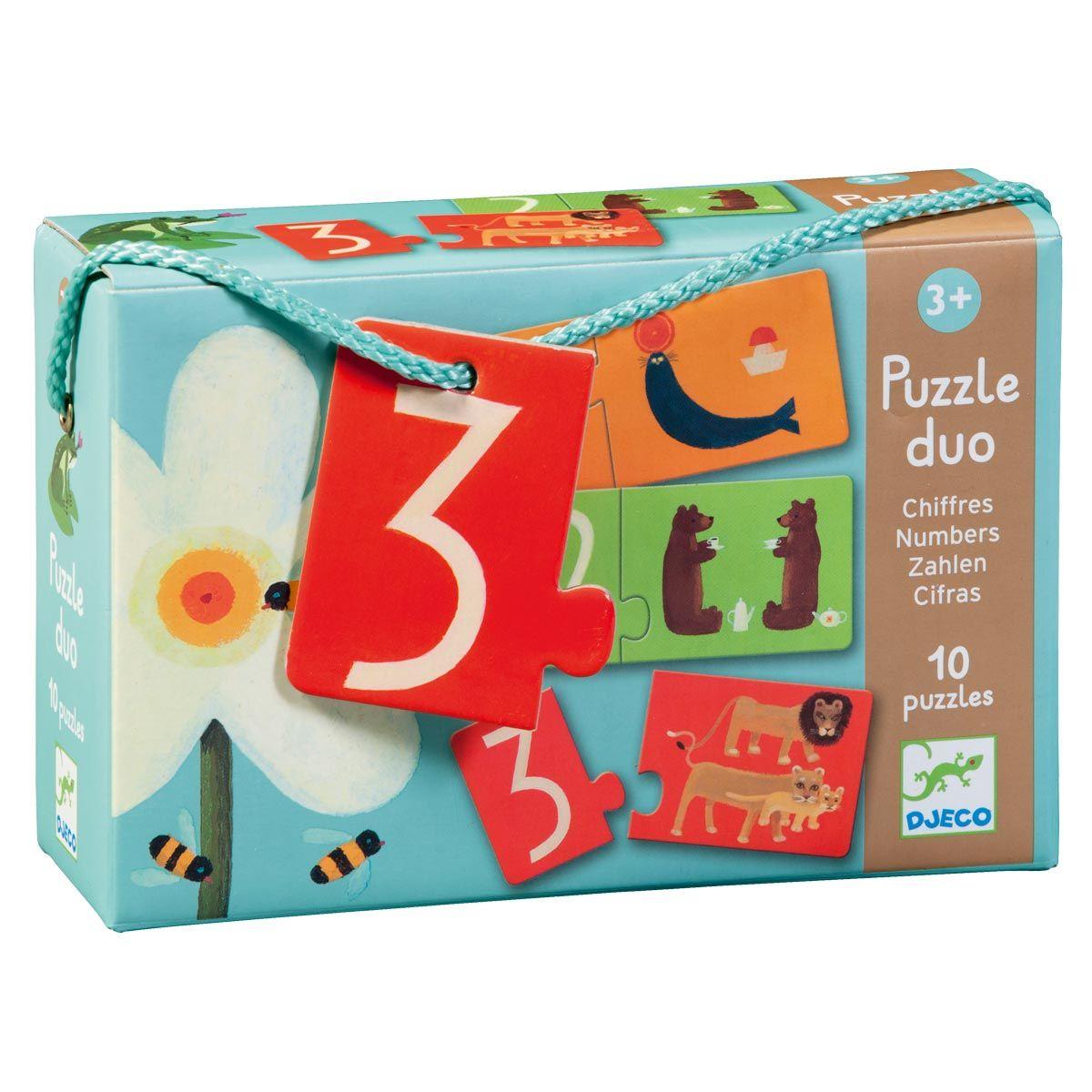 Puzzle Duo Chiffres Djeco Pour Enfant De 3 Ans À 5 Ans pour Jeux En Ligne Enfant 3 Ans