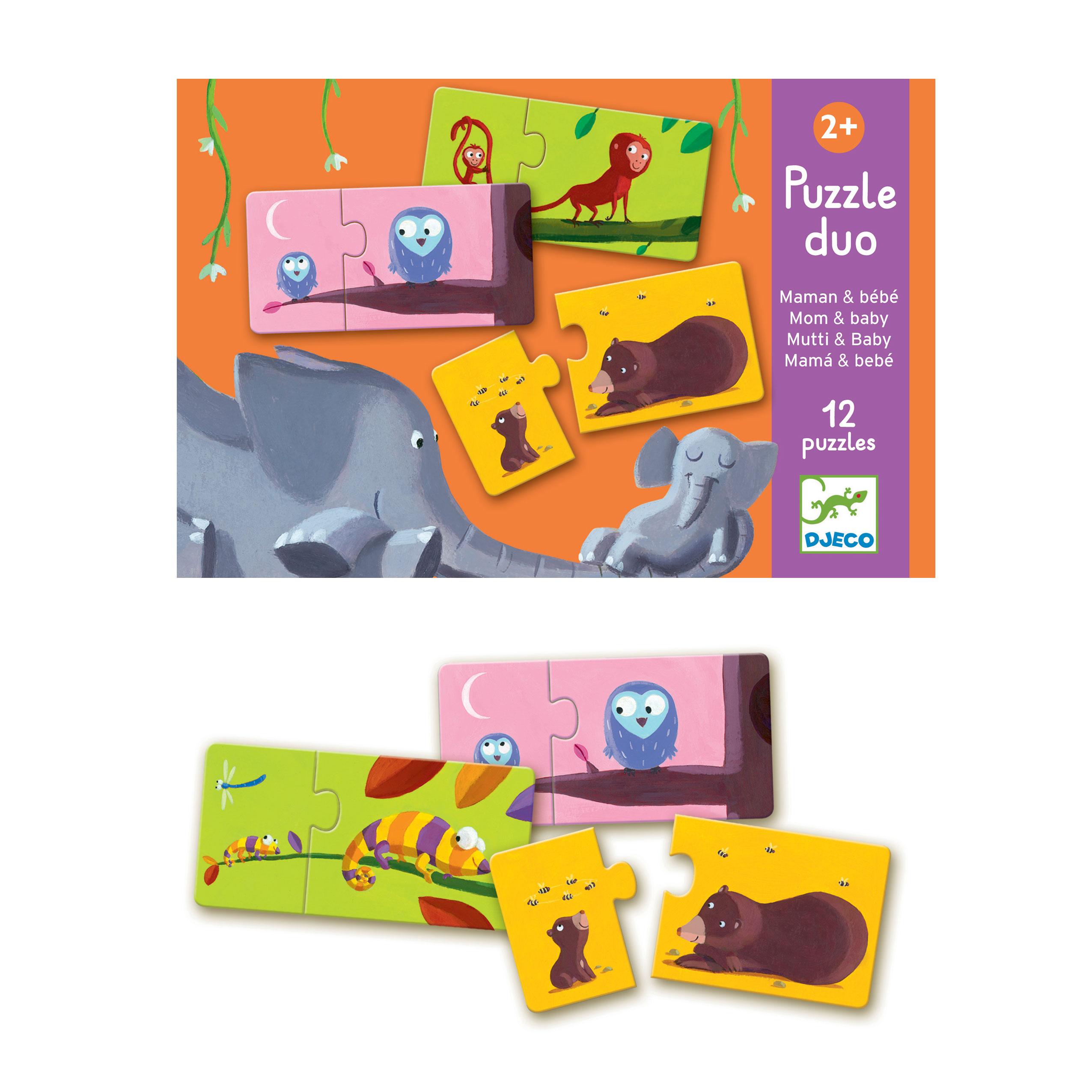Puzzle Duo Maman Et Bébé avec Puzzle Gratuit 3 Ans