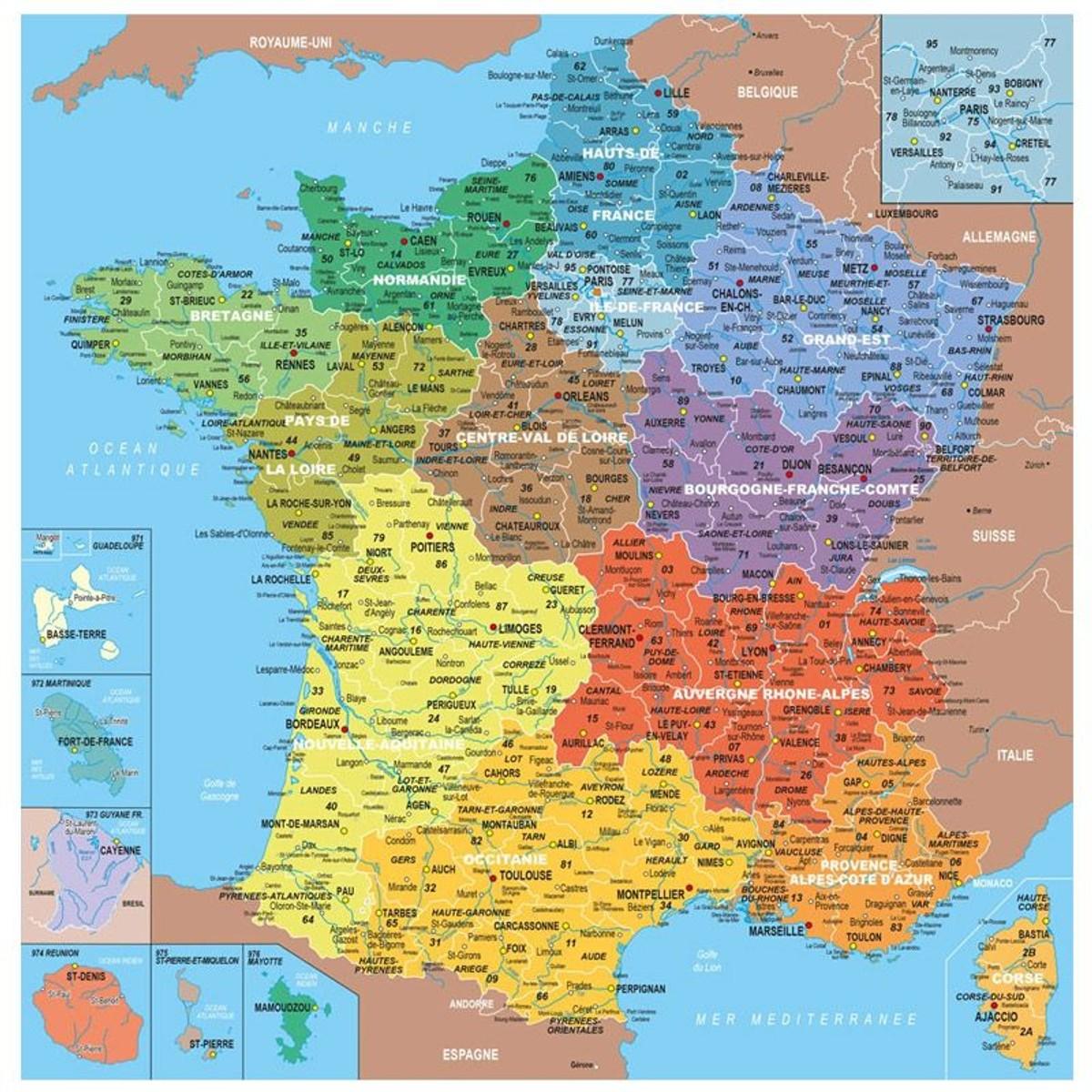 Puzzle En Bois Fait Main 100 Pièces : Carte De France Des concernant Apprendre Les Départements En S Amusant