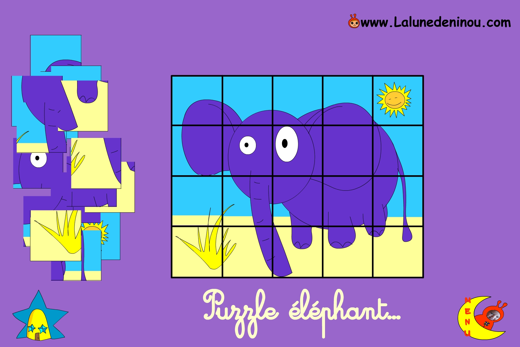 Puzzle En Ligne Pour Enfant De Maternelle - Lalunedeninou intérieur Jeux 4 Ans Gratuit