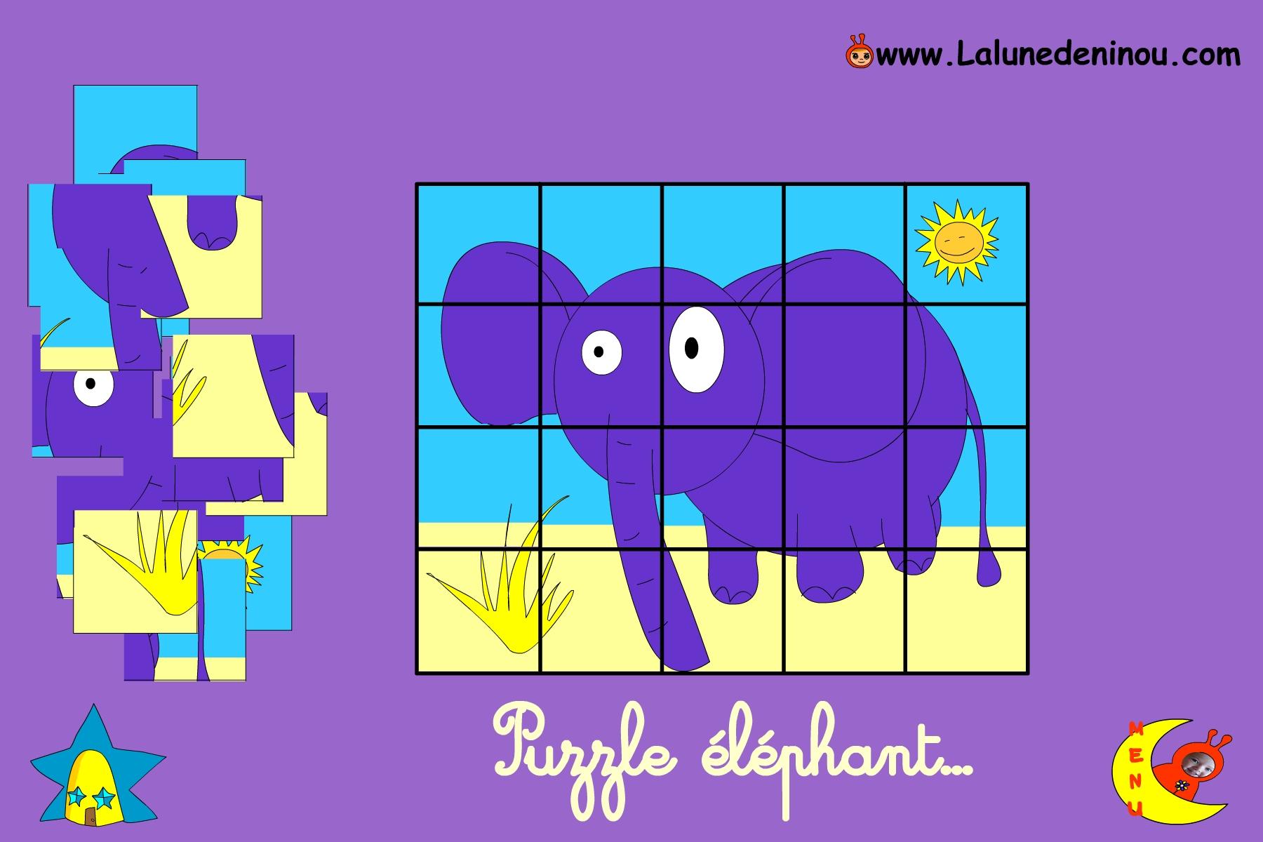 Puzzle En Ligne Pour Enfant De Maternelle - Lalunedeninou tout Jeux 3 Ans En Ligne Gratuit