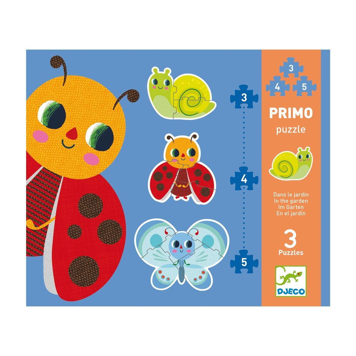 Puzzle Évolutifs Primo Dans Le Jardin 3-4-5 Pièces Djeco serapportantà Jouet Pour Fille 4 5 Ans