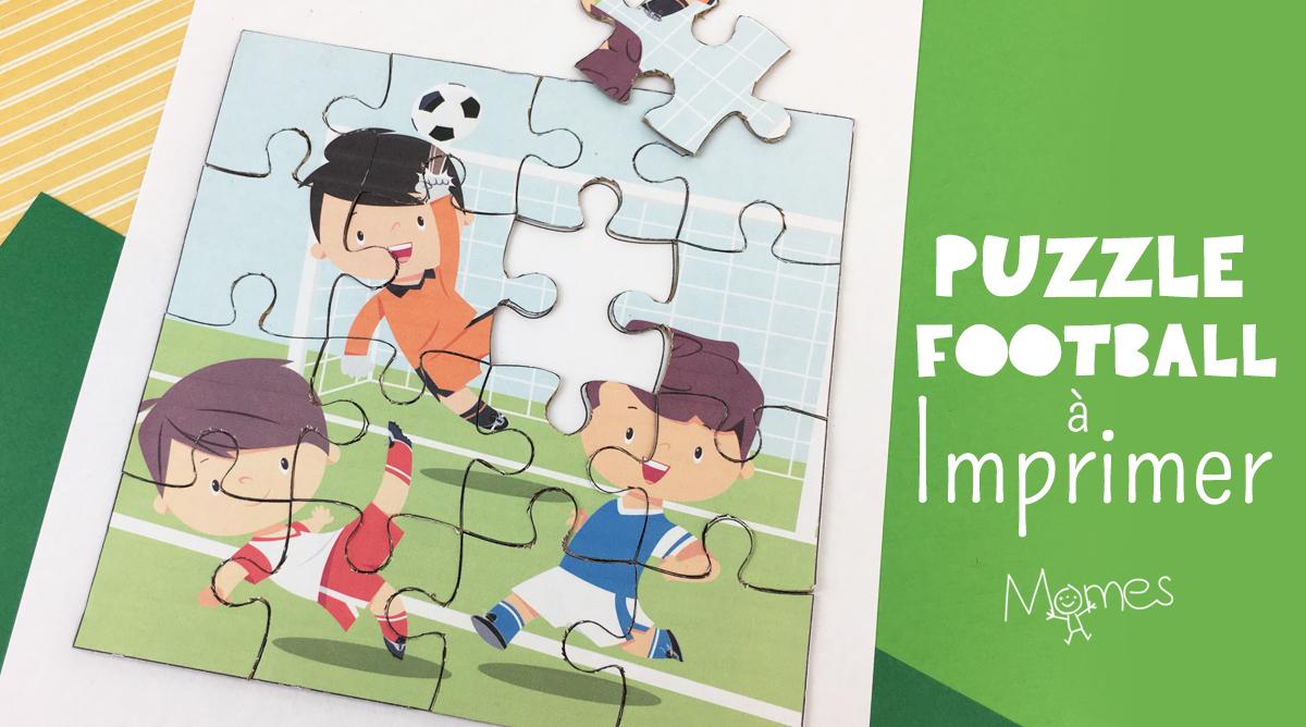 Puzzle Football À Imprimer - Momes destiné Puzzle En Ligne Maternelle