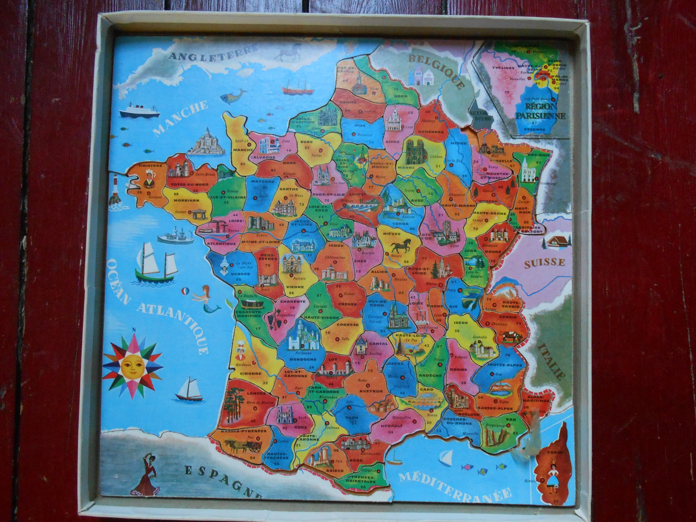 Puzzle, France Puzzle, De Fernand Nathan, Réf F.n 575-399 destiné Puzzle Des Départements Français
