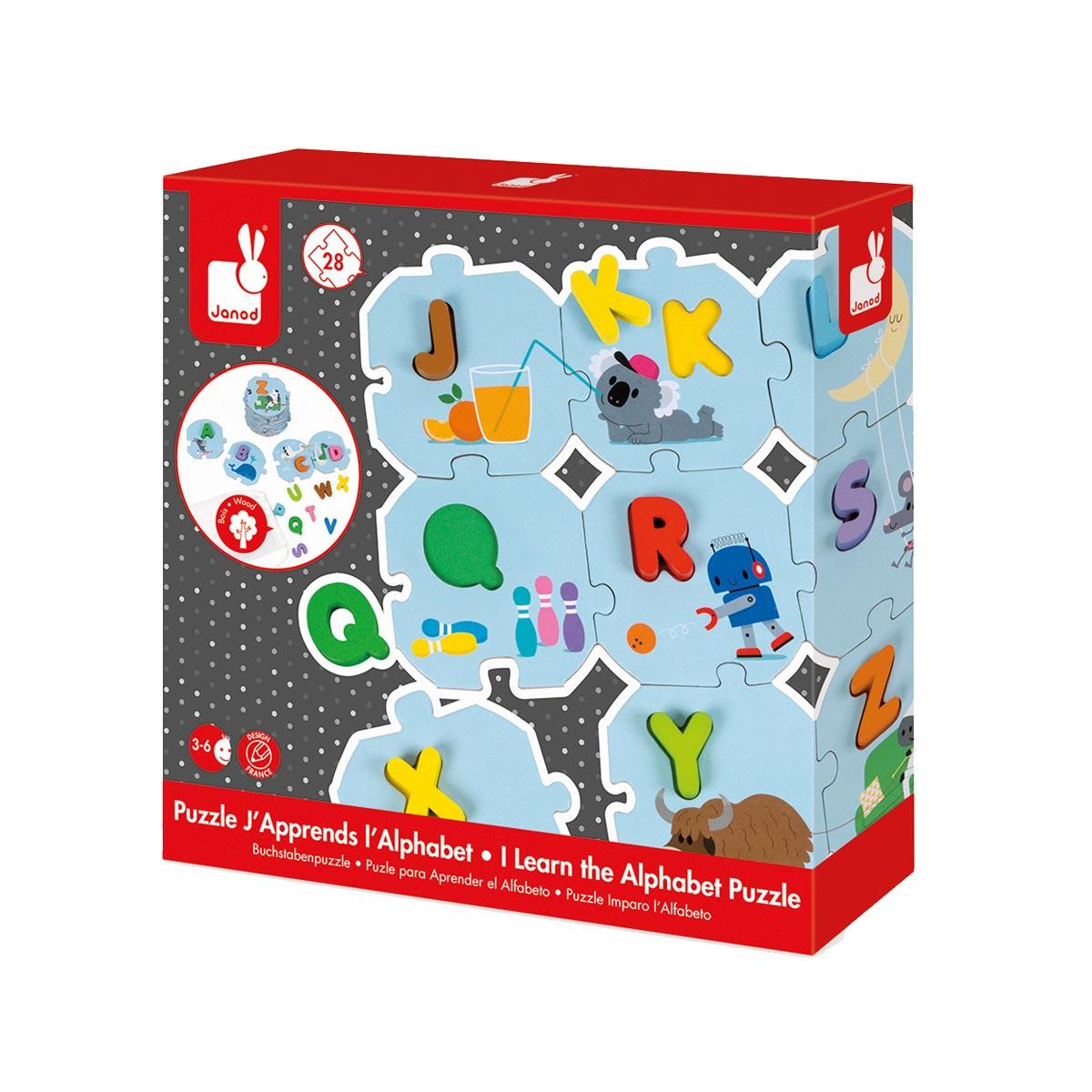 Puzzle J'apprends L'alphabet encequiconcerne Jeux Pour Enfant De 3 Ans