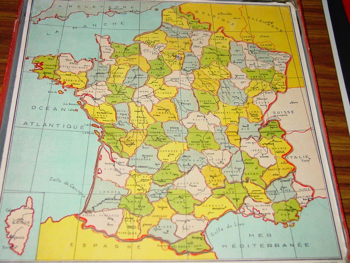 Puzzle La France Par Departements destiné Puzzle Des Départements Français