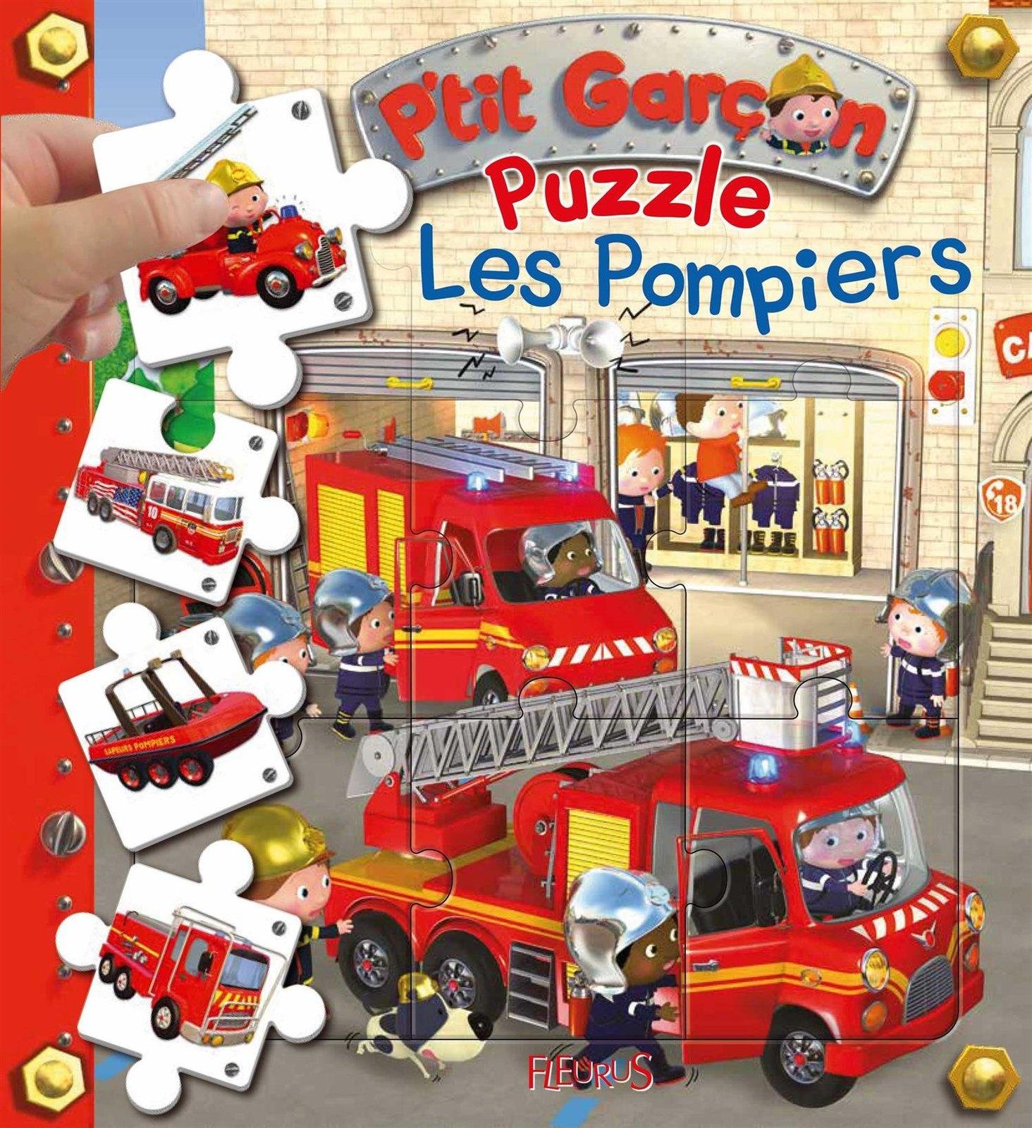 Puzzle Les Pompiers (P'tit Garçon) - Jeux Tu Lis destiné Jeux De Garçon 3 Ans