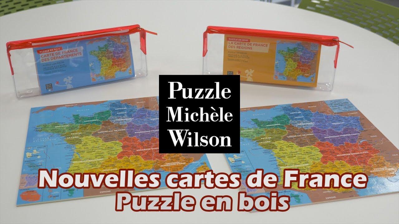 Puzzle Michèle Wilson Les Cartes De France - Démo En Français Hd Fr intérieur Puzzle Des Départements Français