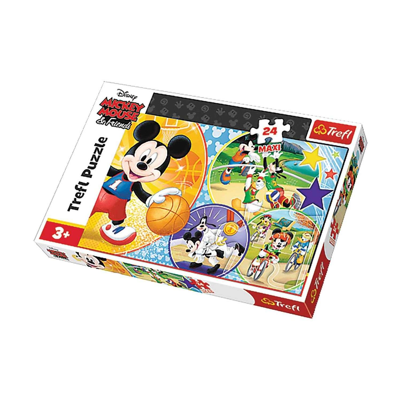Puzzle Mickey Lheure Du Sport - + 3 Ans - 24 Pièces Maxi pour Puzzle Gratuit Pour Fille De 3 Ans