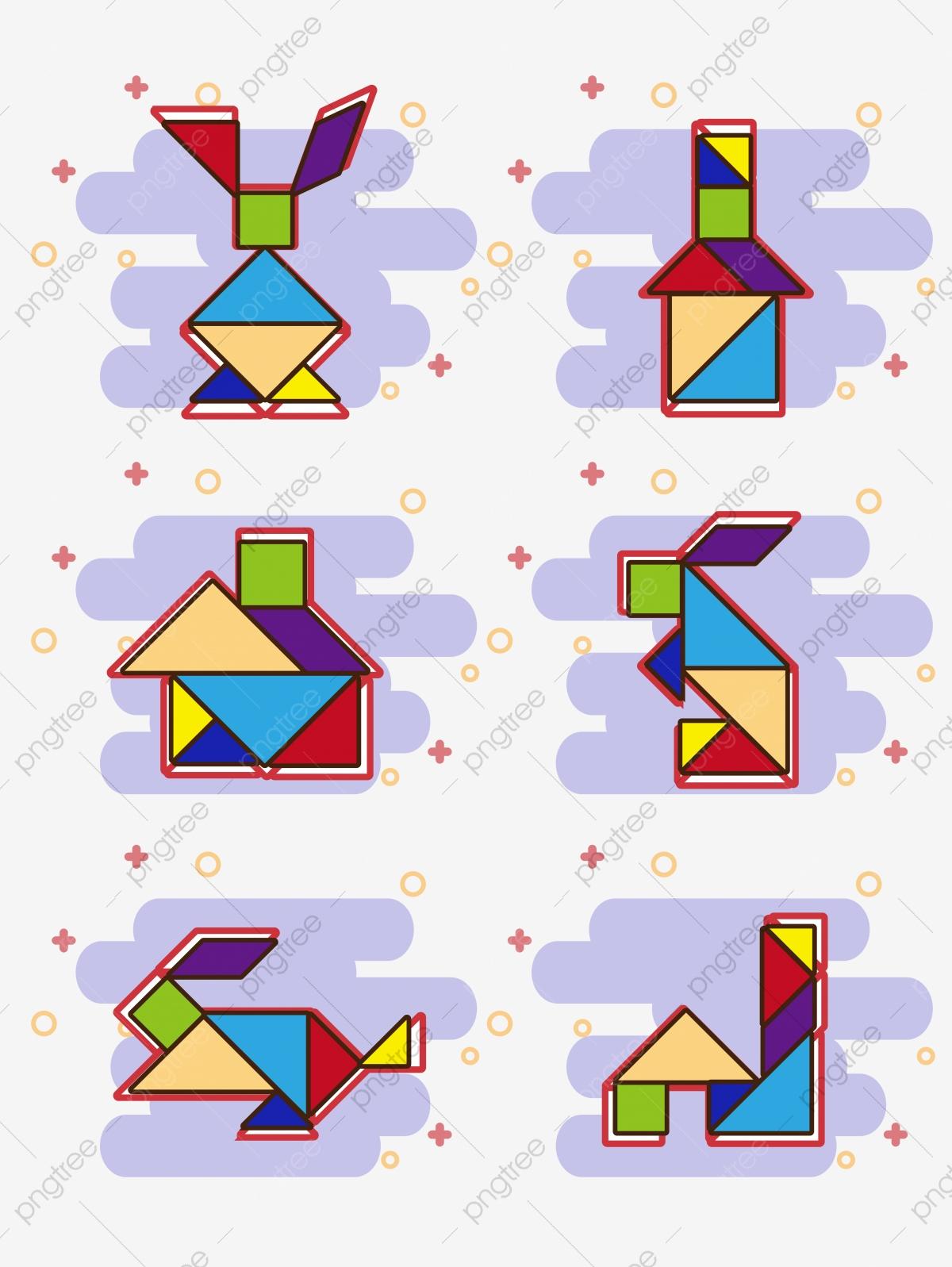 Puzzle Nouvel An Pdf Lapin, D'origine, Année Du Lapin, Lapin intérieur Tangram Lapin