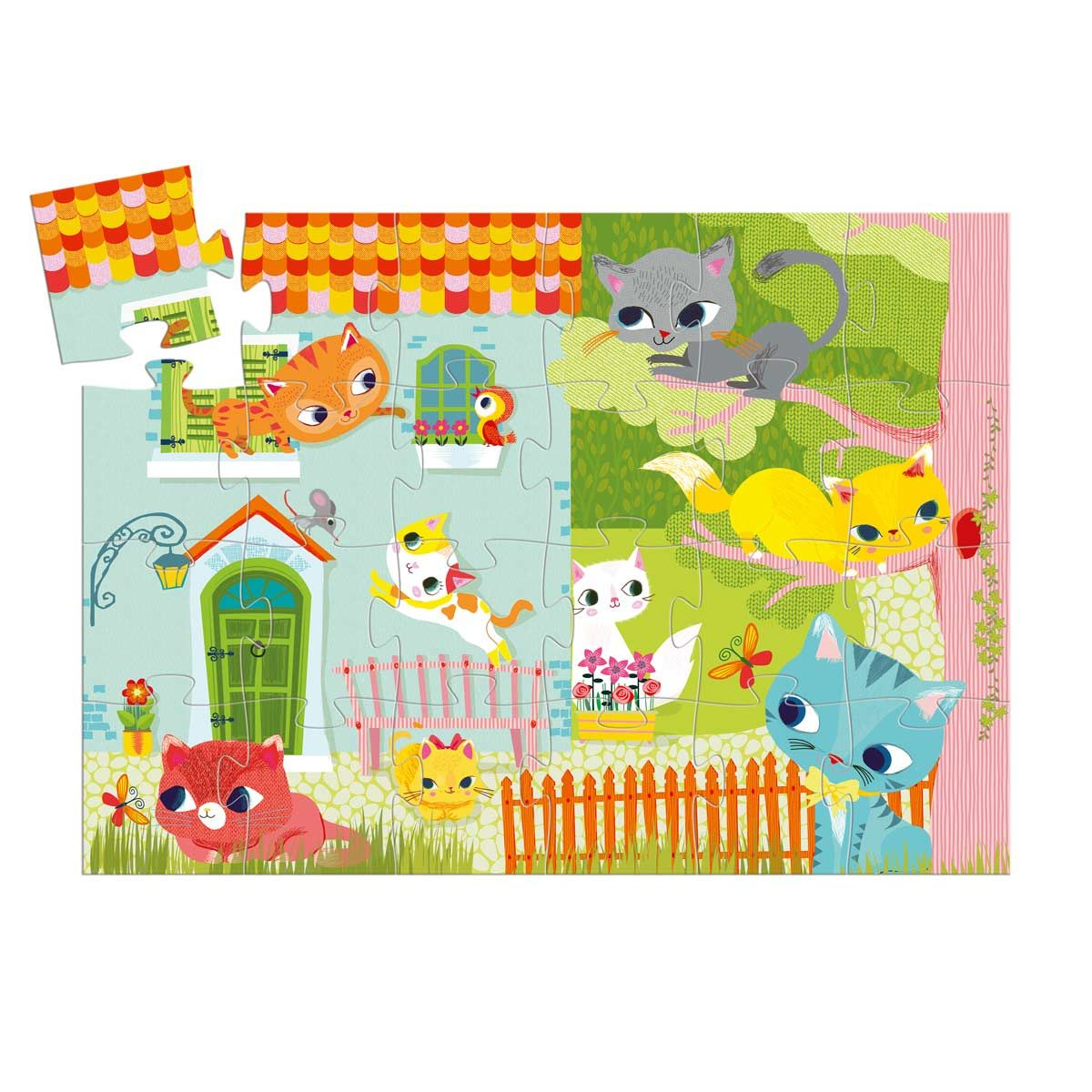 Puzzle Pachat Et Ses Amis 24 Pièces Djeco   Patchwork Papier à Jeux En Ligne Enfant 3 Ans