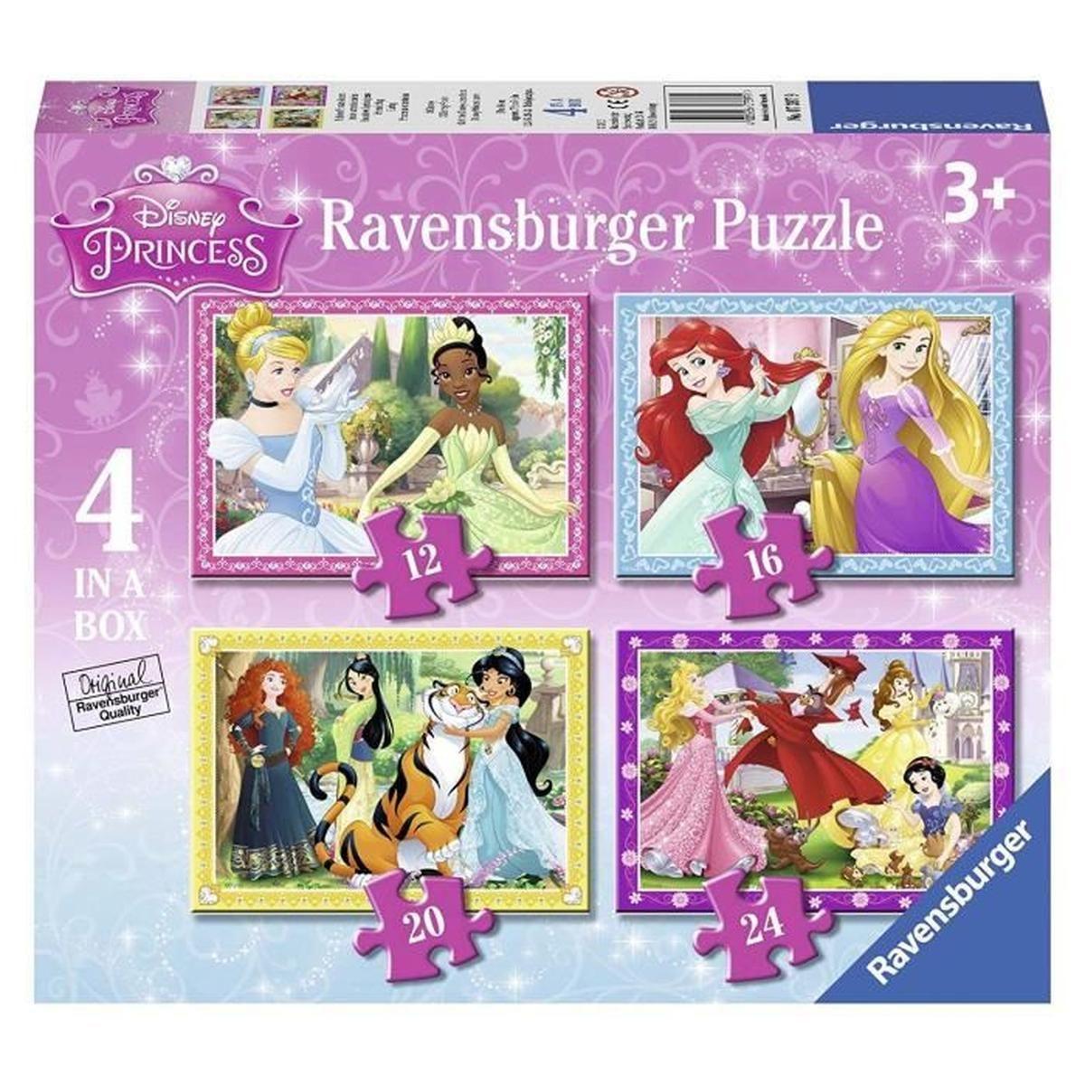 Puzzle Princesse 4 Puzzles 3 Ans Et Plus 3 + dedans Puzzle Gratuit 3 Ans