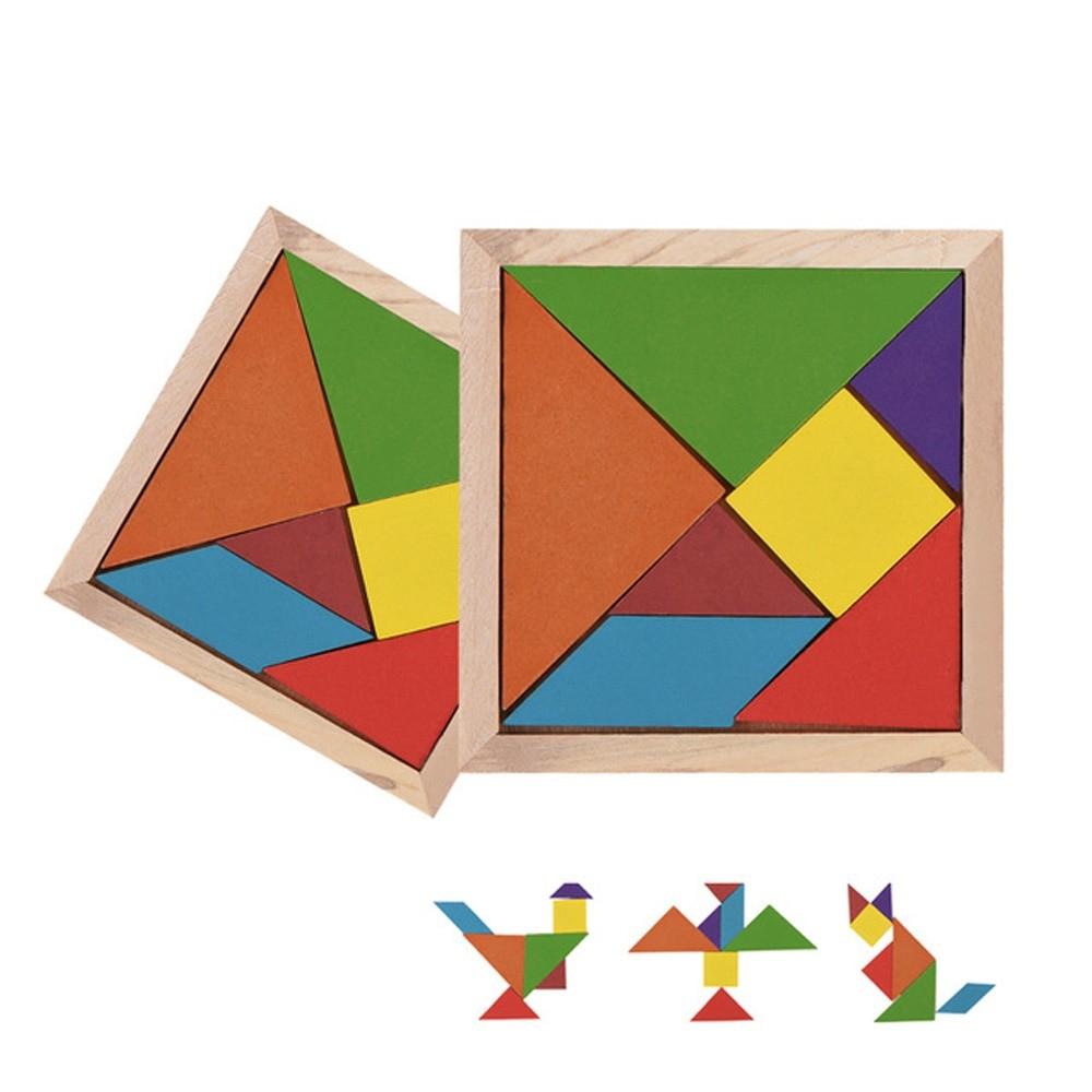 Puzzle Tangram En Bois dedans Tangram Enfant