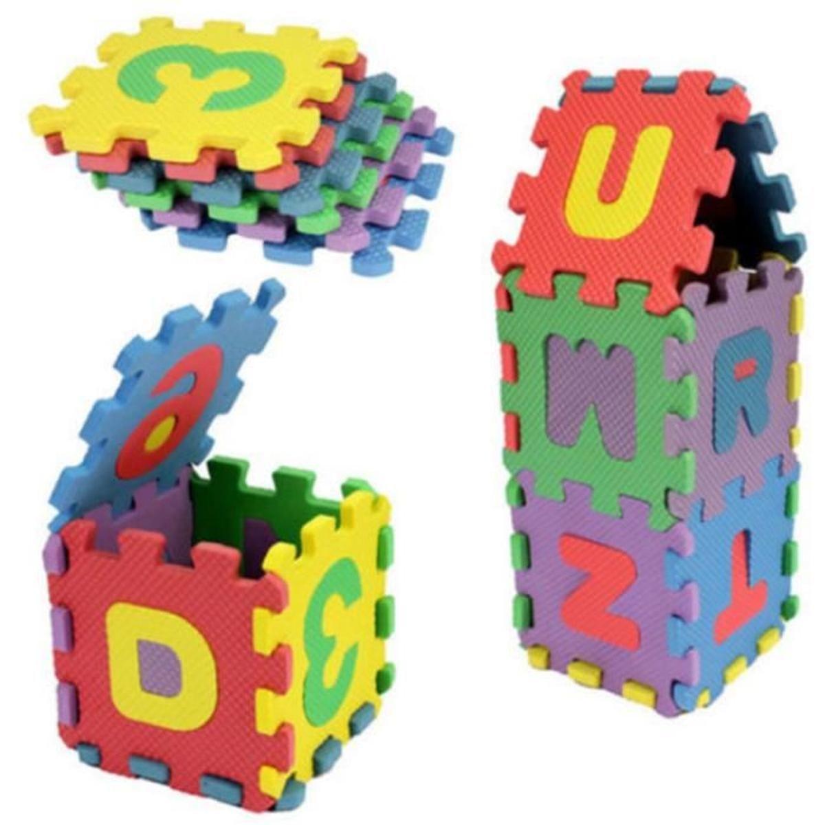 Puzzle Tapis Mousse 36 Pcs Pour 2-3 Ans Bébé Jeu Éducation Alphabétisation  Infantile pour Jeux Bebe 3 Ans