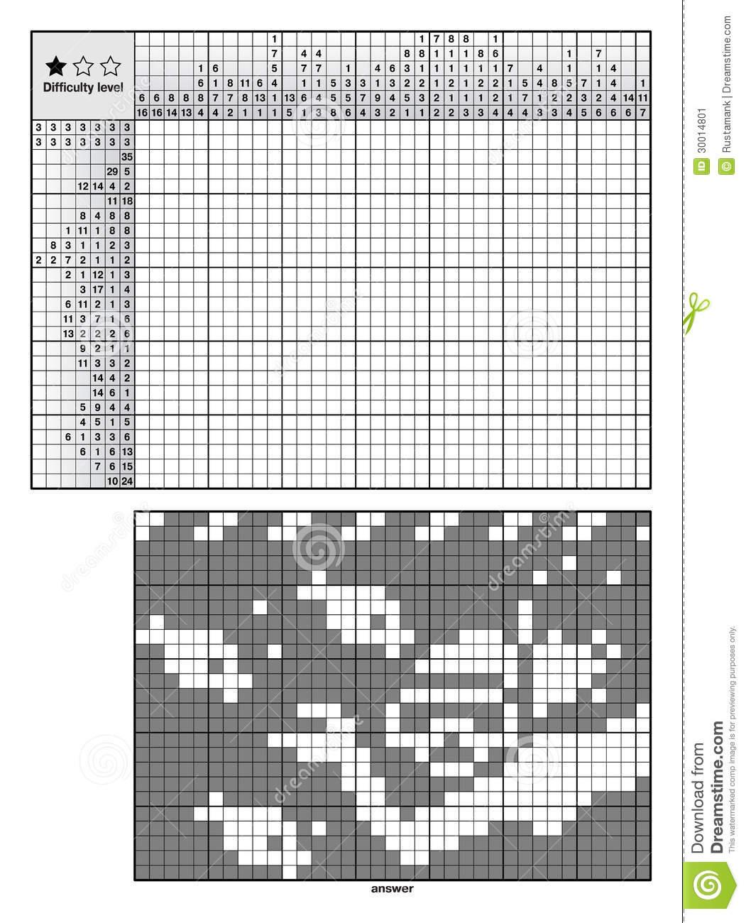 Puzzles De Logique D'image Illustration De Vecteur encequiconcerne Mots Croisés Faciles Pour Débutants