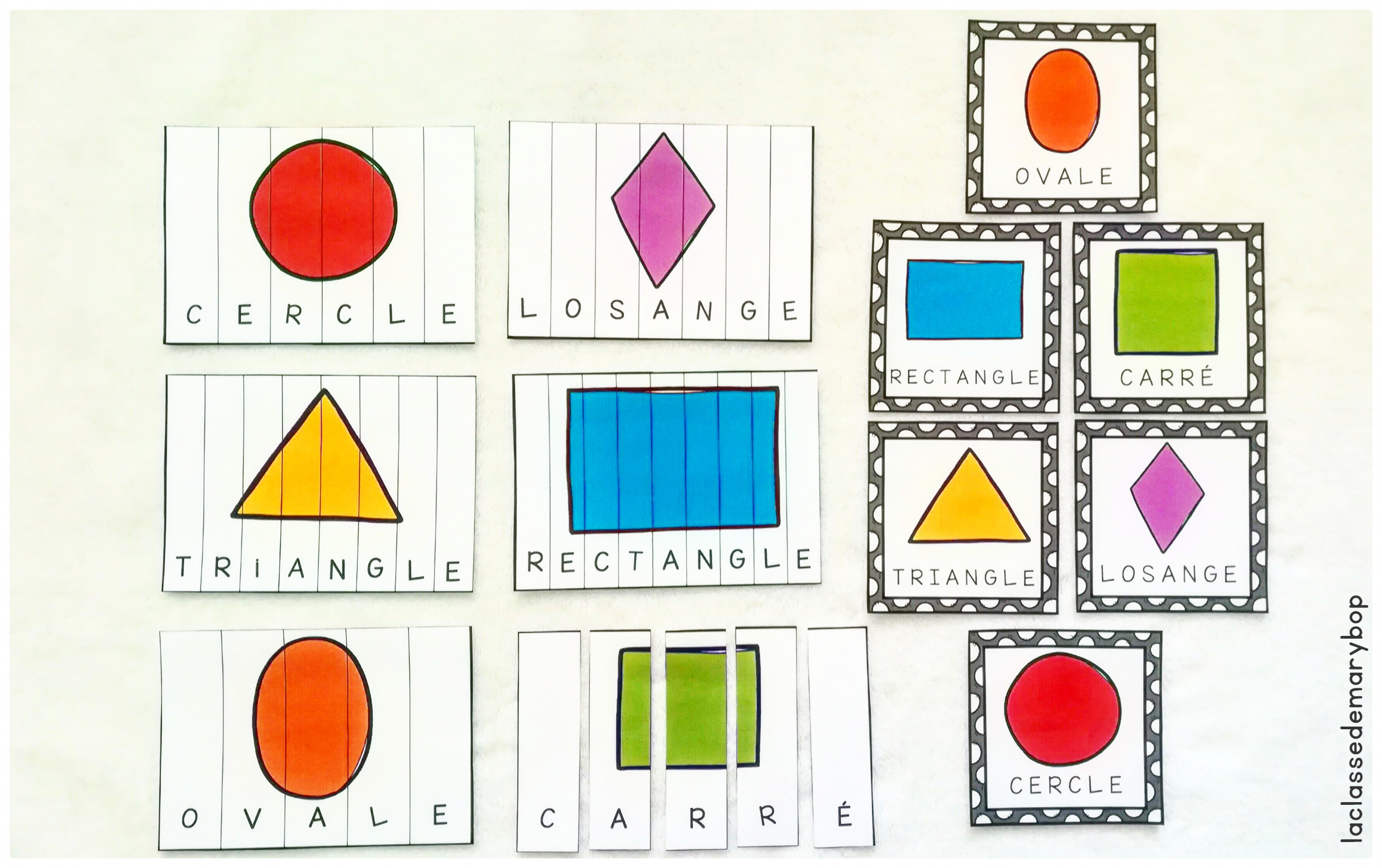 Puzzles Formes Géométriques - La Classe De Marybop pour Les Formes Geometrique