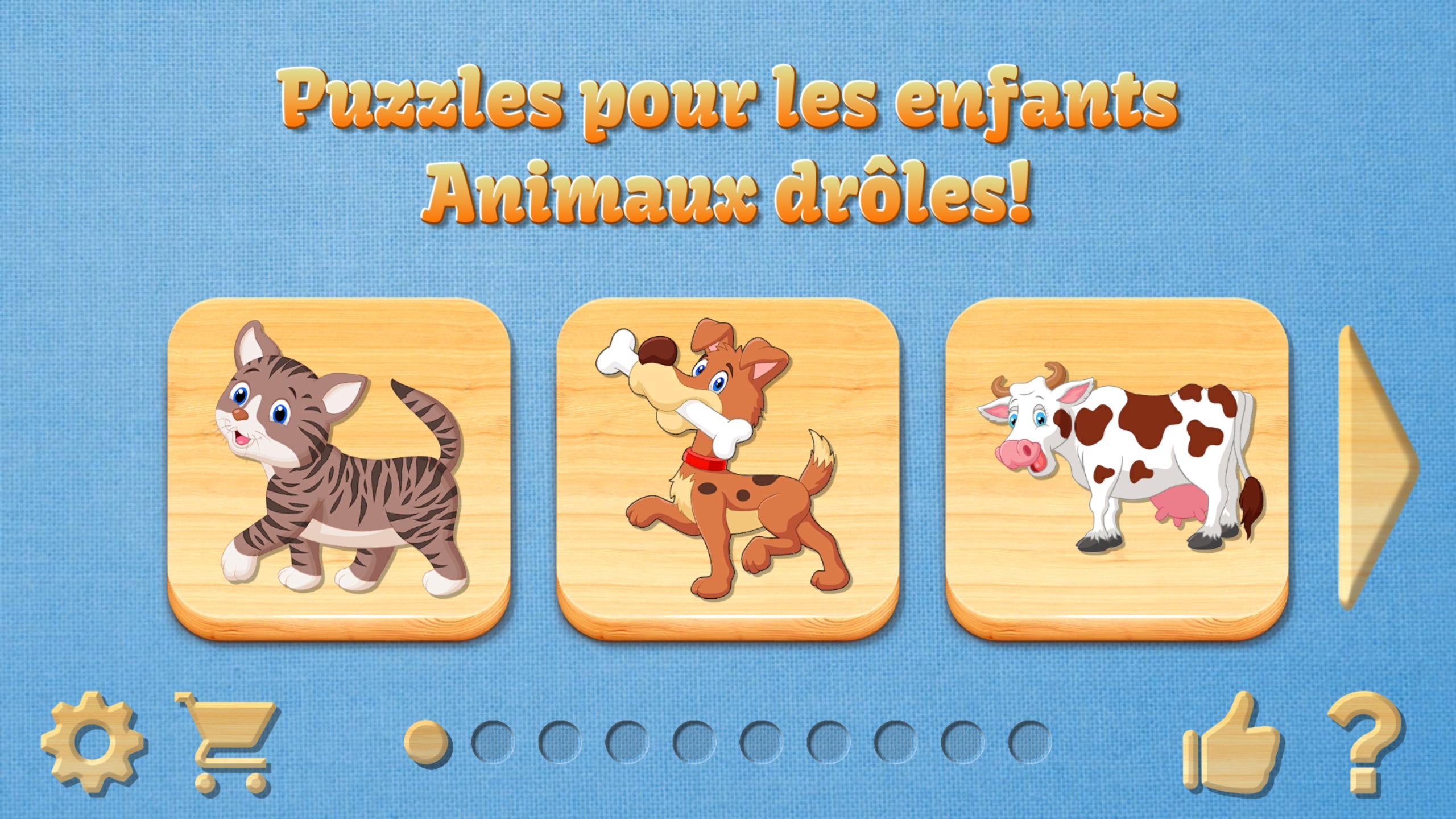 Puzzles Pour Enfants Et Sons D'animaux Pour Android tout Apprendre Les Animaux Pour Bebe