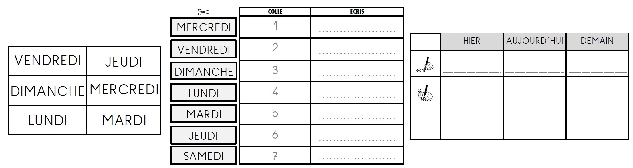 Qlm Le Temps] Outils Et Activités Pour La Période 1, En Cp tout Exercice Symétrie Ce1