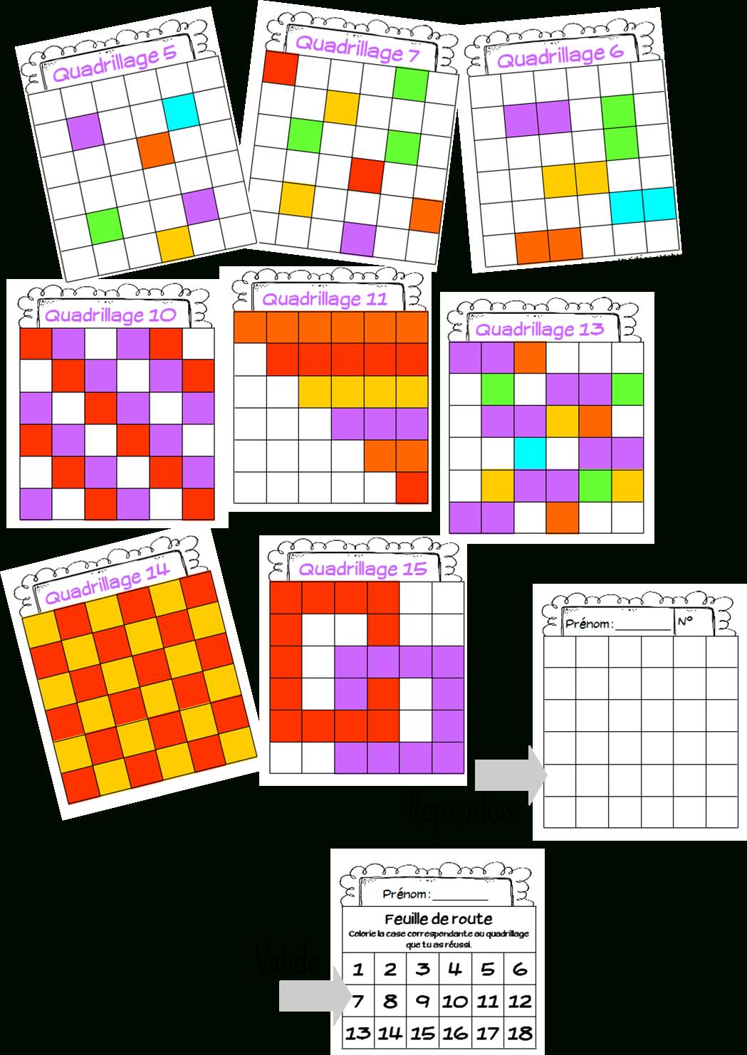 Quadrillage   Géométrie Ce1, Quadrillage Ce1 Et Mathematique pour Reproduction Sur Quadrillage Ce1