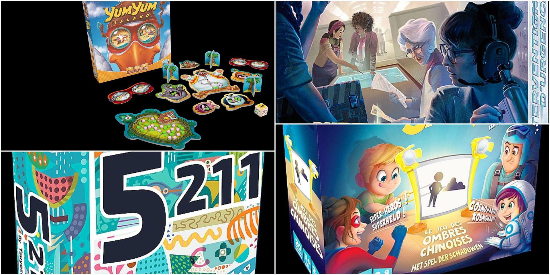 Quatre Nouveaux Jeux De Société Vraiment De 7 À 77 Ans - Dh pour Jeu Quatre Images