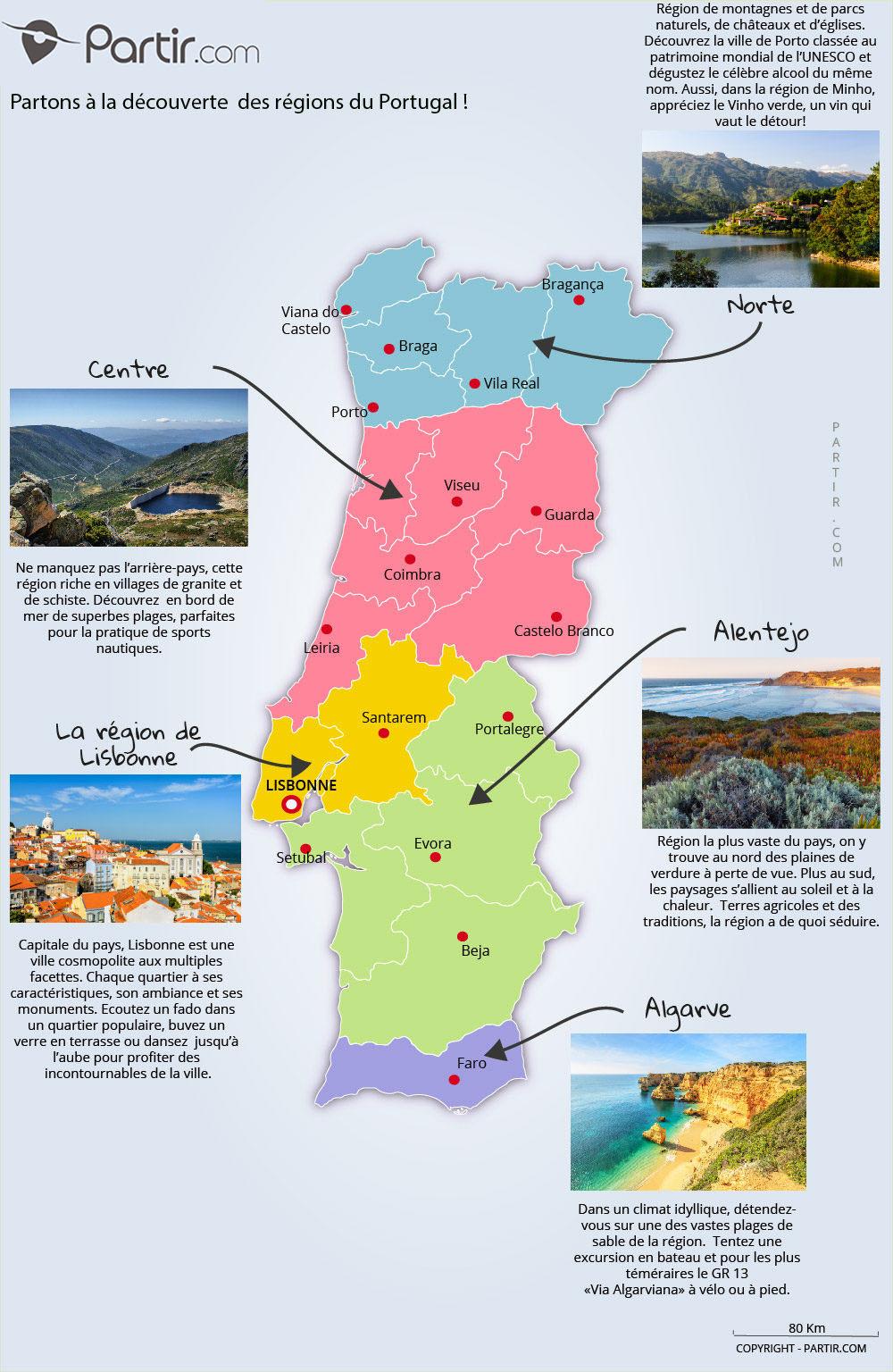 Que Voir Au Portugal : Cartes Touristiques Et Incontournables à Carte Des Régions De France À Imprimer Gratuitement