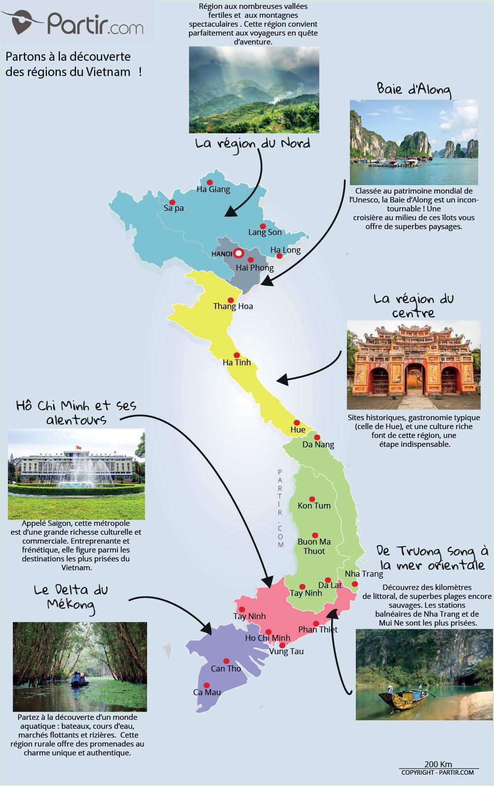 Que Voir Au Vietnam : Cartes Touristiques Et Incontournables encequiconcerne Carte De France Grande Ville