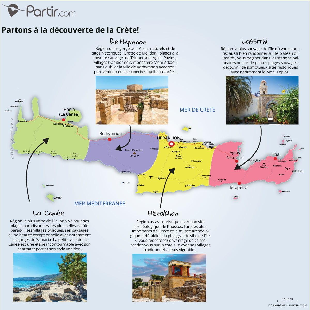 Que Voir En Crète : Cartes Touristiques Et Incontournables pour Carte D Europe En Francais