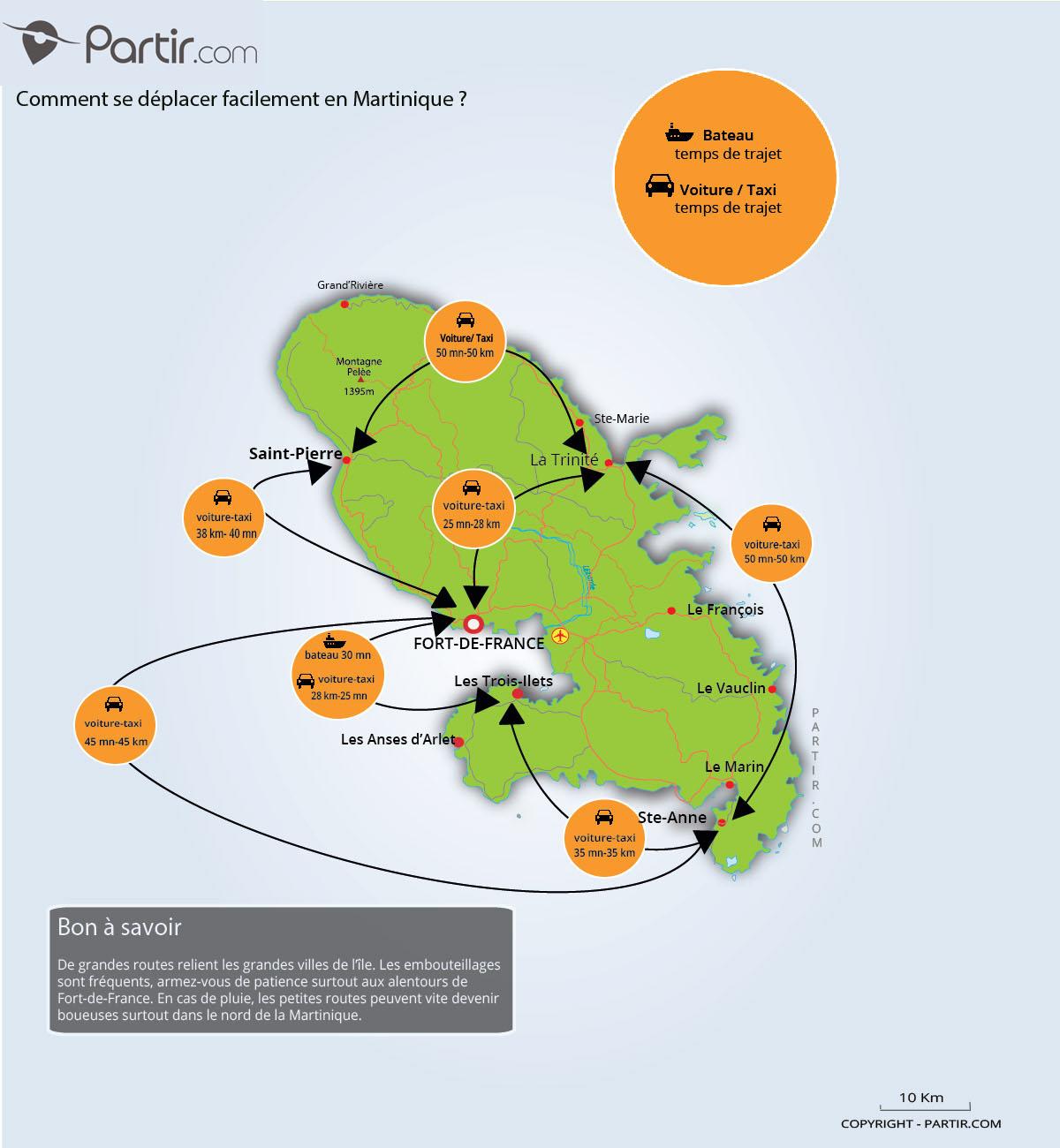 Que Voir En Martinique : Cartes Touristiques Et Incontournables destiné Petite Carte De France A Imprimer