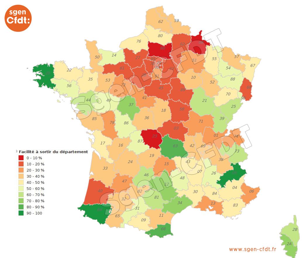 Quel Barème Faut-Il Pour Changer De Département ? - Sgen+ pour Combien De Departement En France