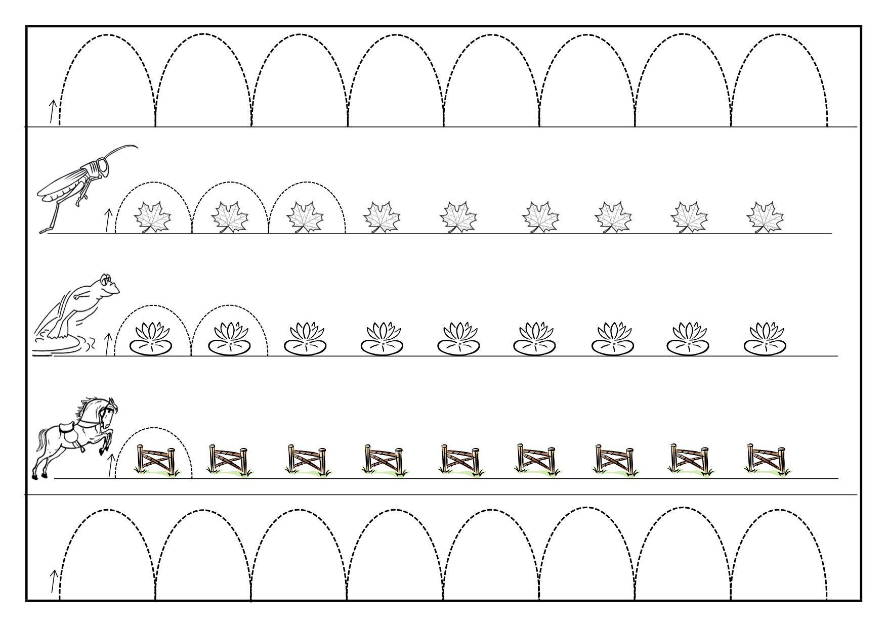 Quelques Fiches De Graphisme À Imprimer Pour La Maternelle destiné Graphisme Gs A Imprimer