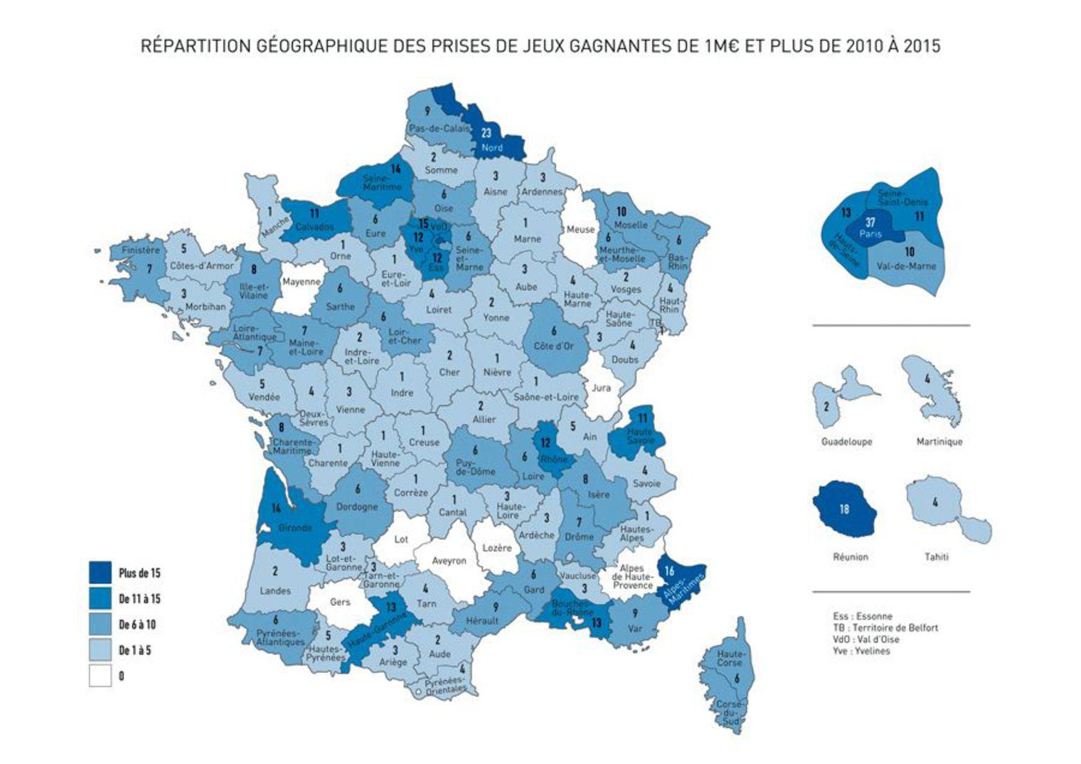 Quels Sont Les Départements Les Plus Chanceux De La France tout Jeux Des Départements Français