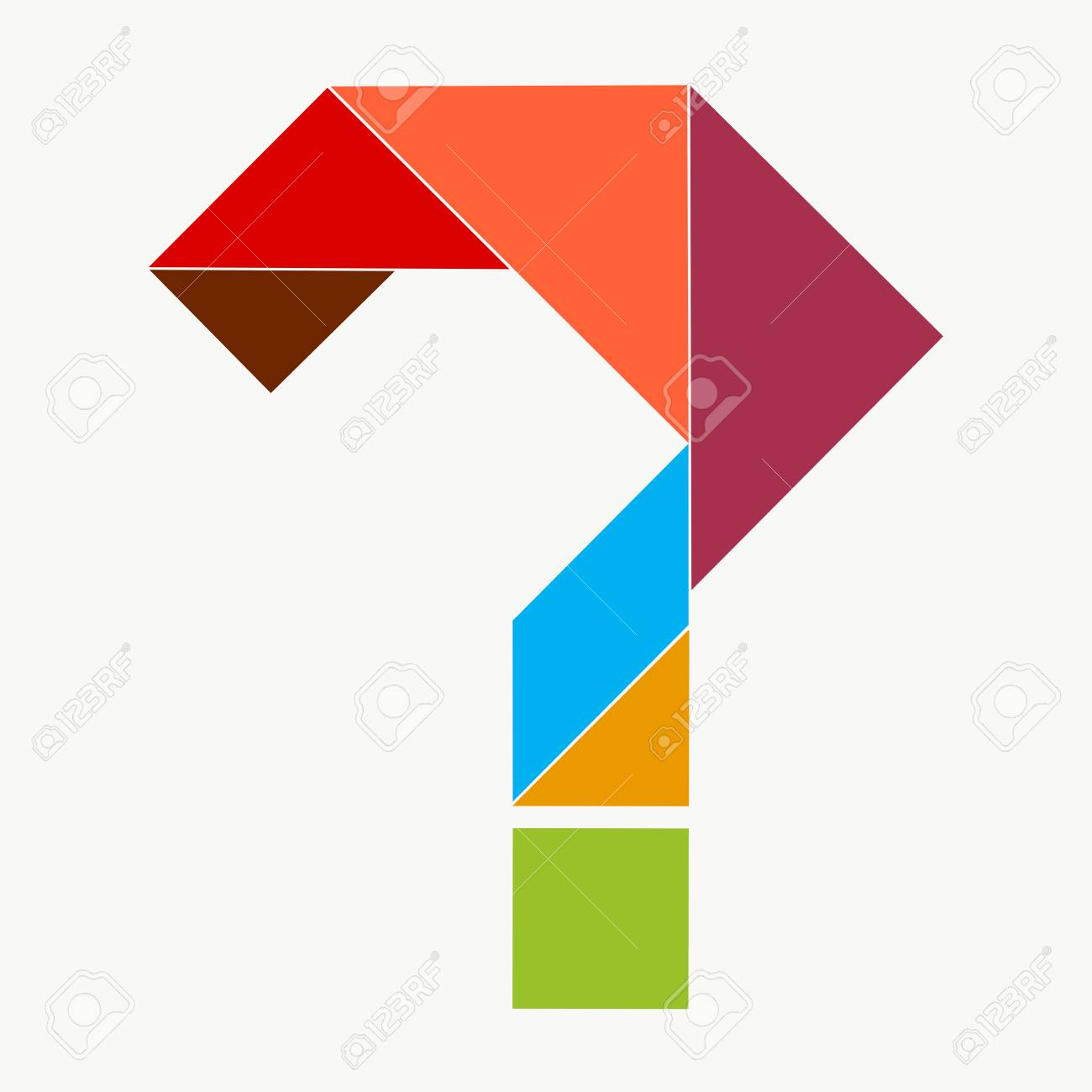 Question Mark From Pieces Of Tangram Puzzle encequiconcerne Pièces Tangram