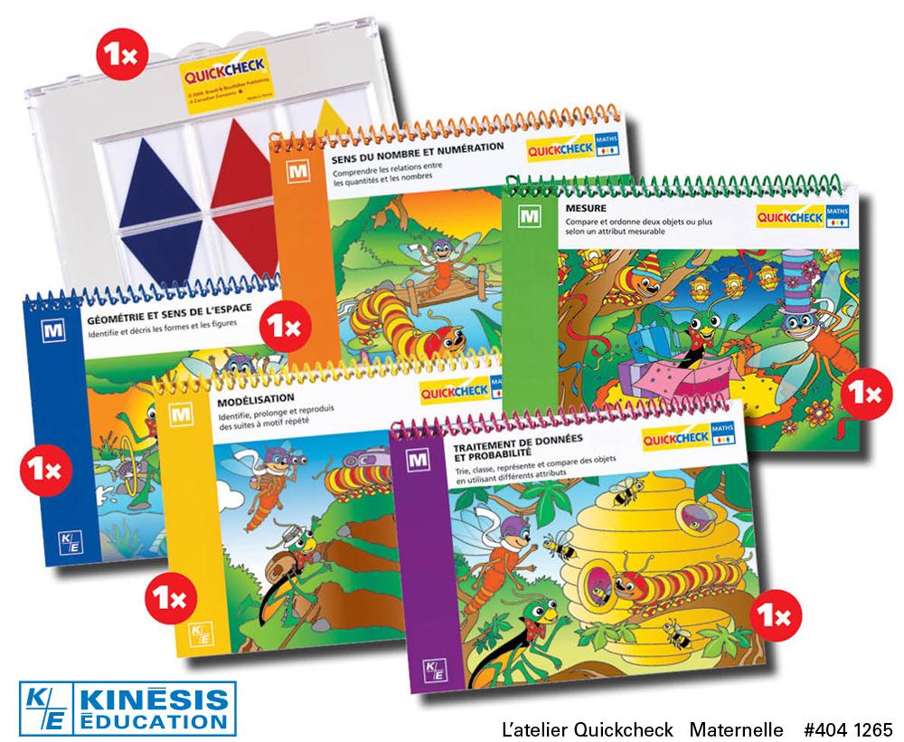 Quickcheck Maternelle - Outils D'apprentissage Des Mathématiques serapportantà Jeux D Apprentissage Maternelle