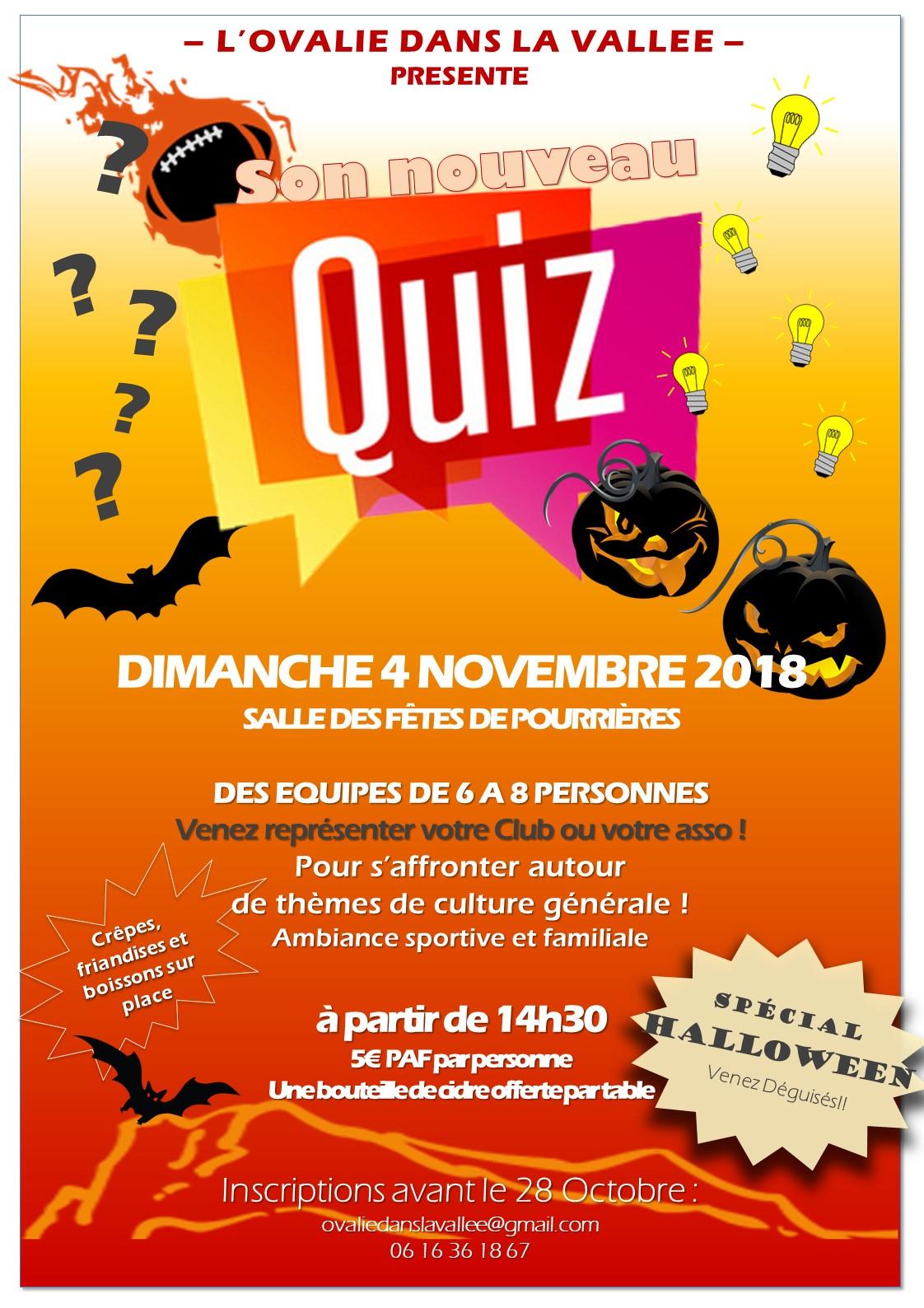 Quiz D'halloween – Présente L'ovalie Dans La Vallee serapportantà Quizz Pour Maternelle