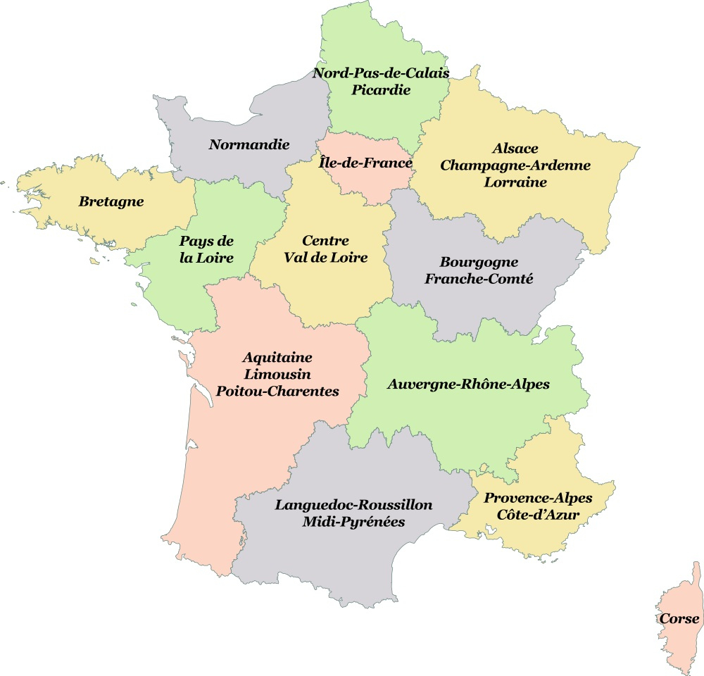 Quiz Les Capitales Des Nouvelles Régions De France Sur Créaquiz concernant Quiz Régions De France