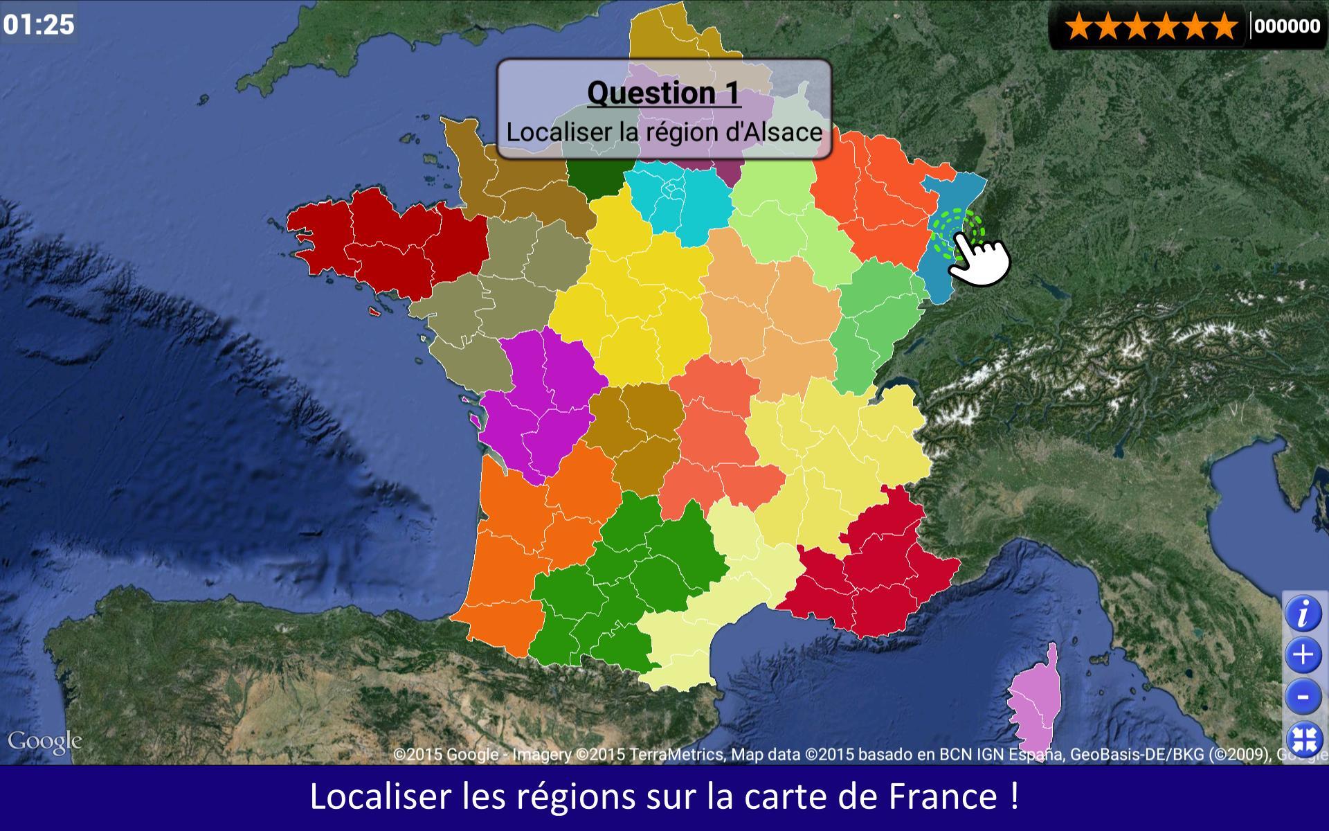 Quiz Régions Départements For Android - Apk Download à Quiz Régions De France