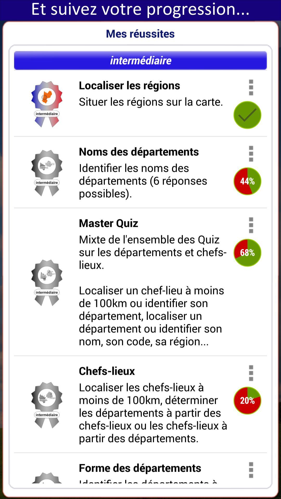 Quiz Régions Départements For Android - Apk Download destiné Carte Region Departement