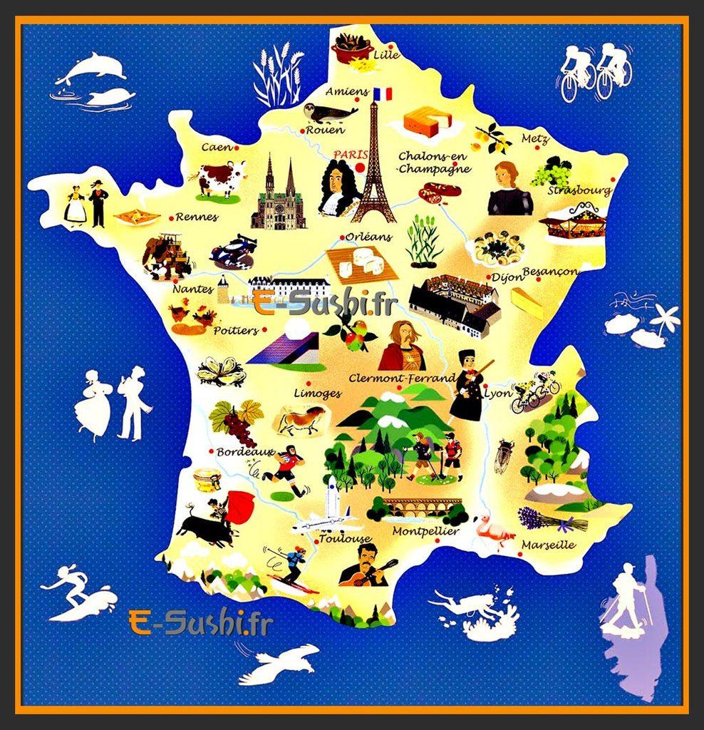 Quiz Sur Les Villes, Départements, Régions, Monuments concernant Quiz Régions De France