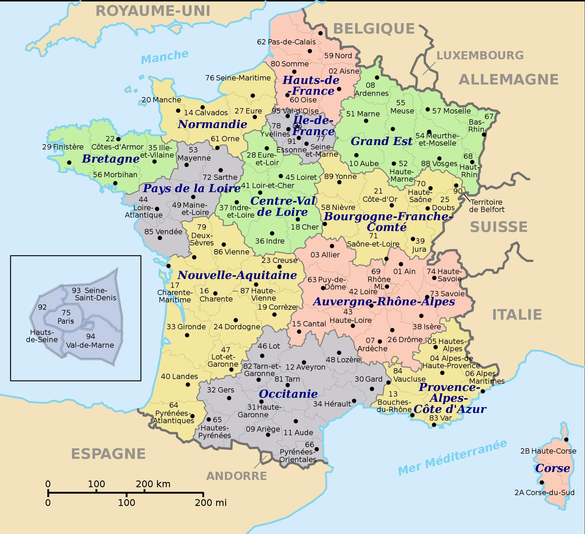 Quiz Voyage Spécial Les Nouvelles Régions Françaises avec Quiz Régions De France