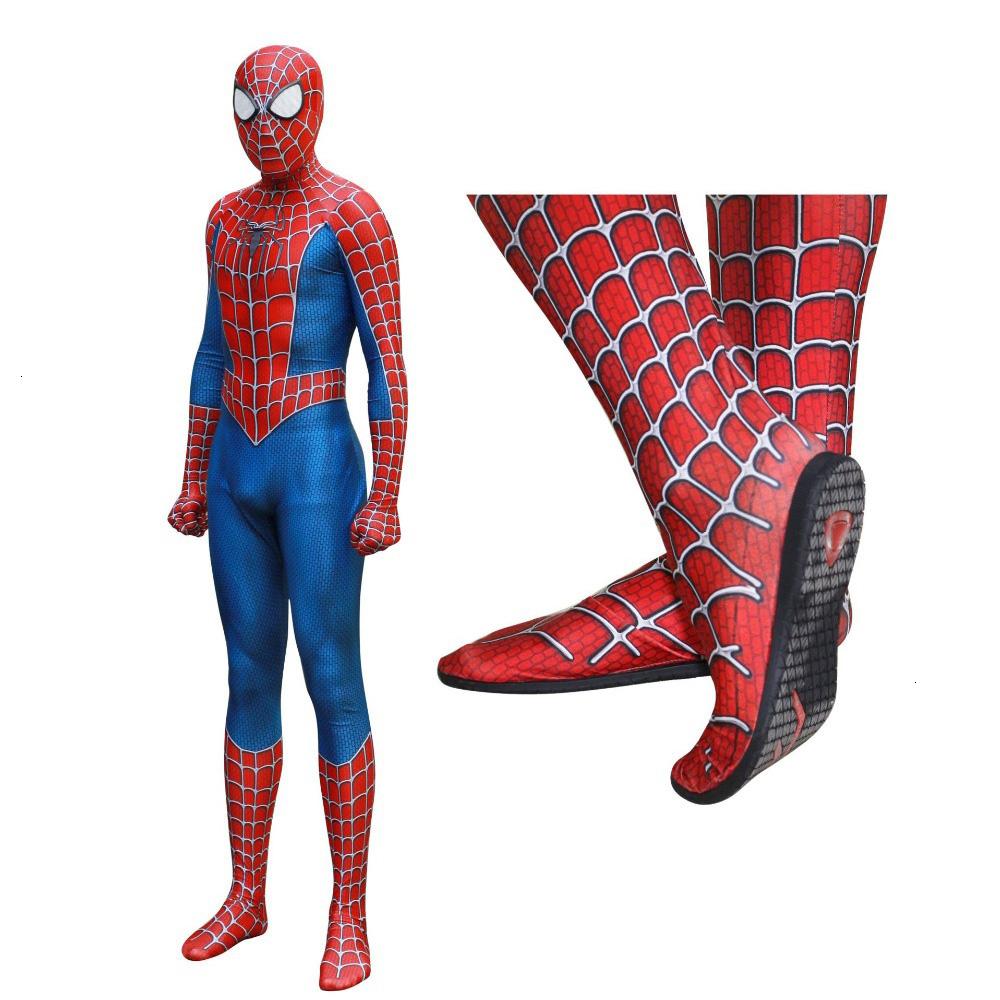 Raimi Spiderman Kostuum Cosplay Costume 3D Imprimer Complet Du Corps Z  Semelle Intérieure Objectif Masque Adulte Enfant Spiderman Bodysuit pour Masque Spiderman A Imprimer