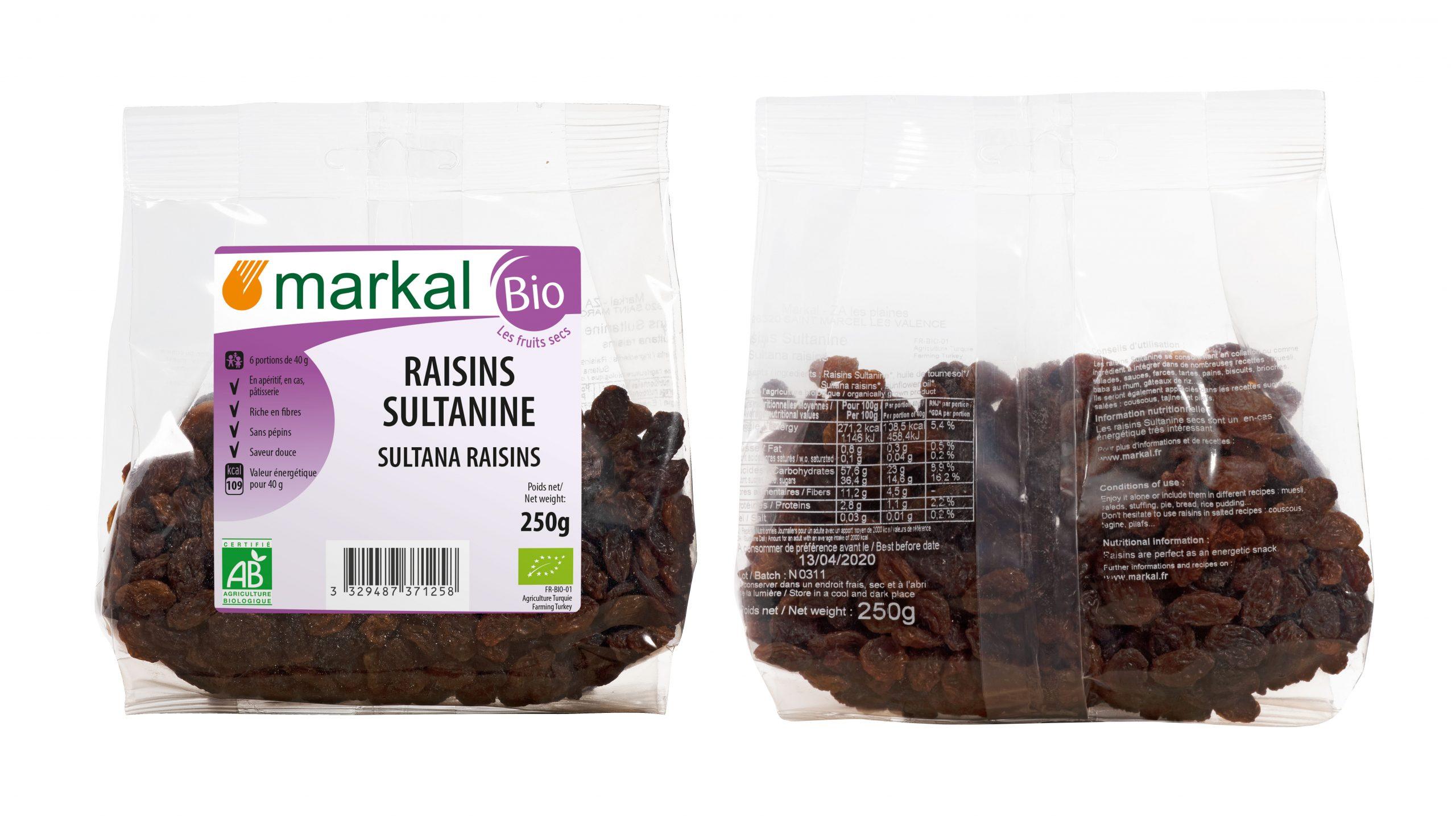 Raisins Sultanines - Fruits Secs - Produit Bio Markal concernant Jeux De Secs