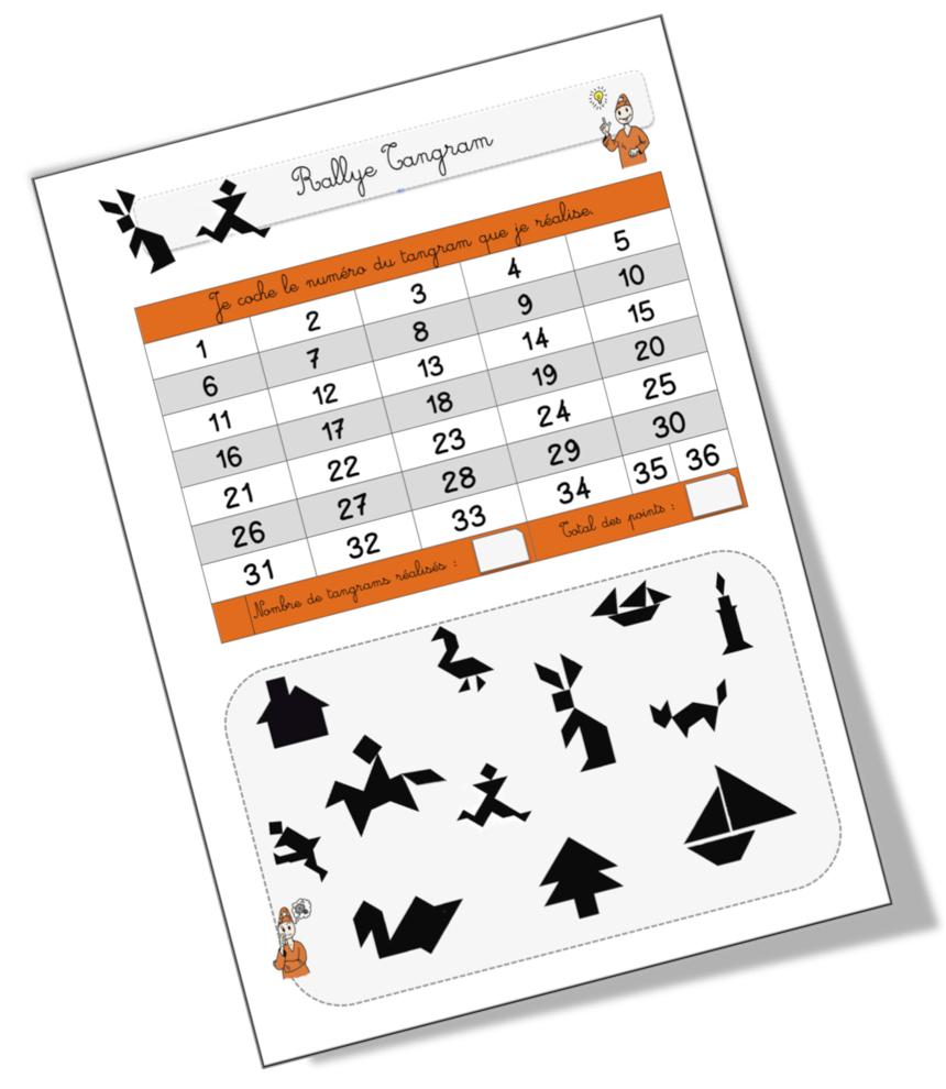 Rallye Tangram | Bout De Gomme tout Modèle Tangram À Imprimer