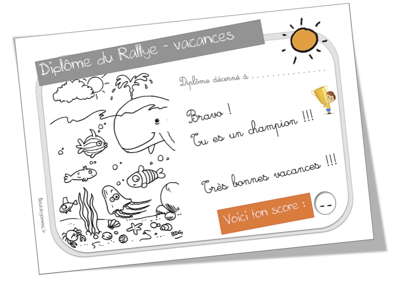Rallye-Vacances Cycle 2   Bout De Gomme concernant Journal De Vacances A Imprimer