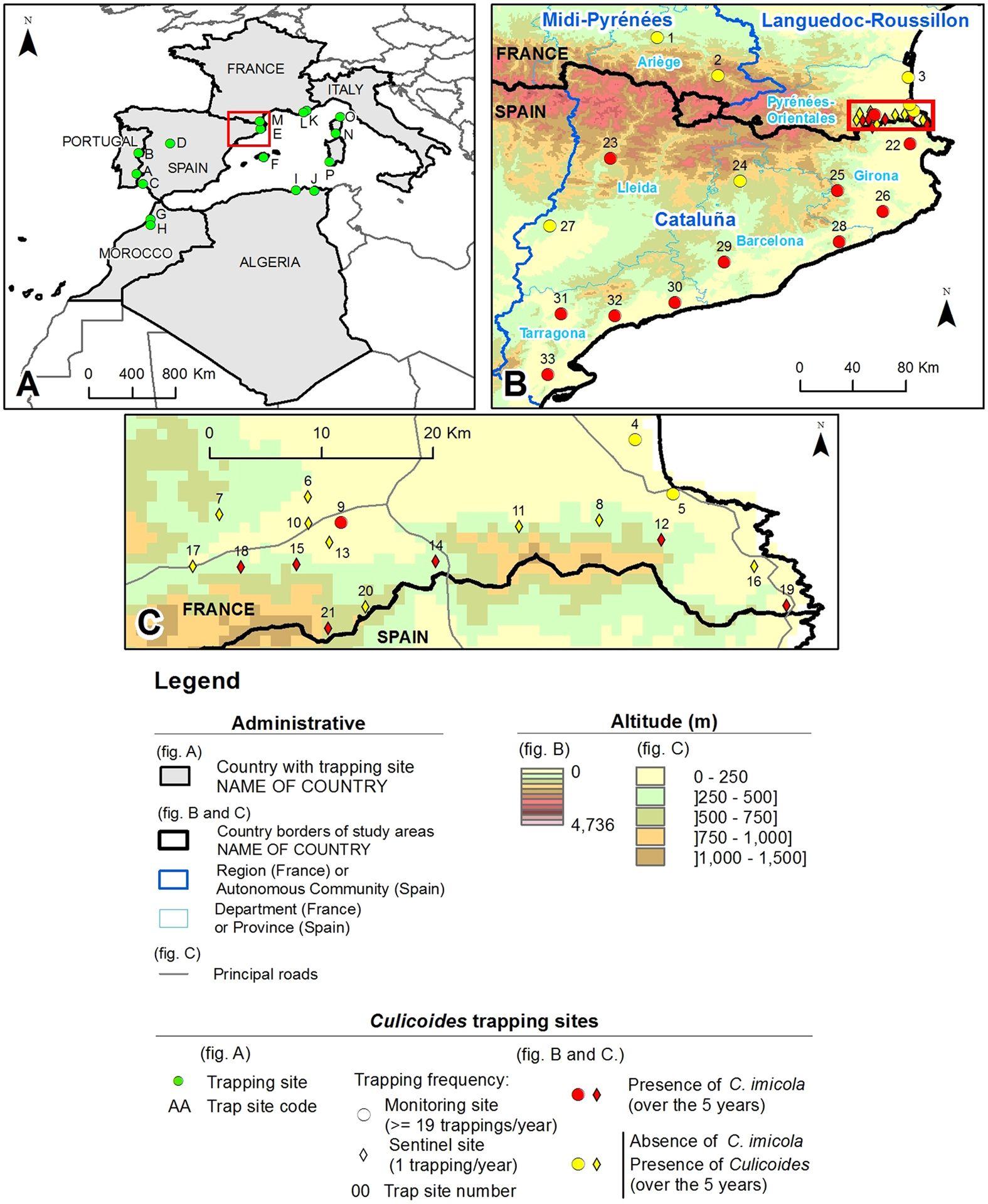 Range Expansion Of The Bluetongue Vector, Culicoides Imicola avec Liste Region De France