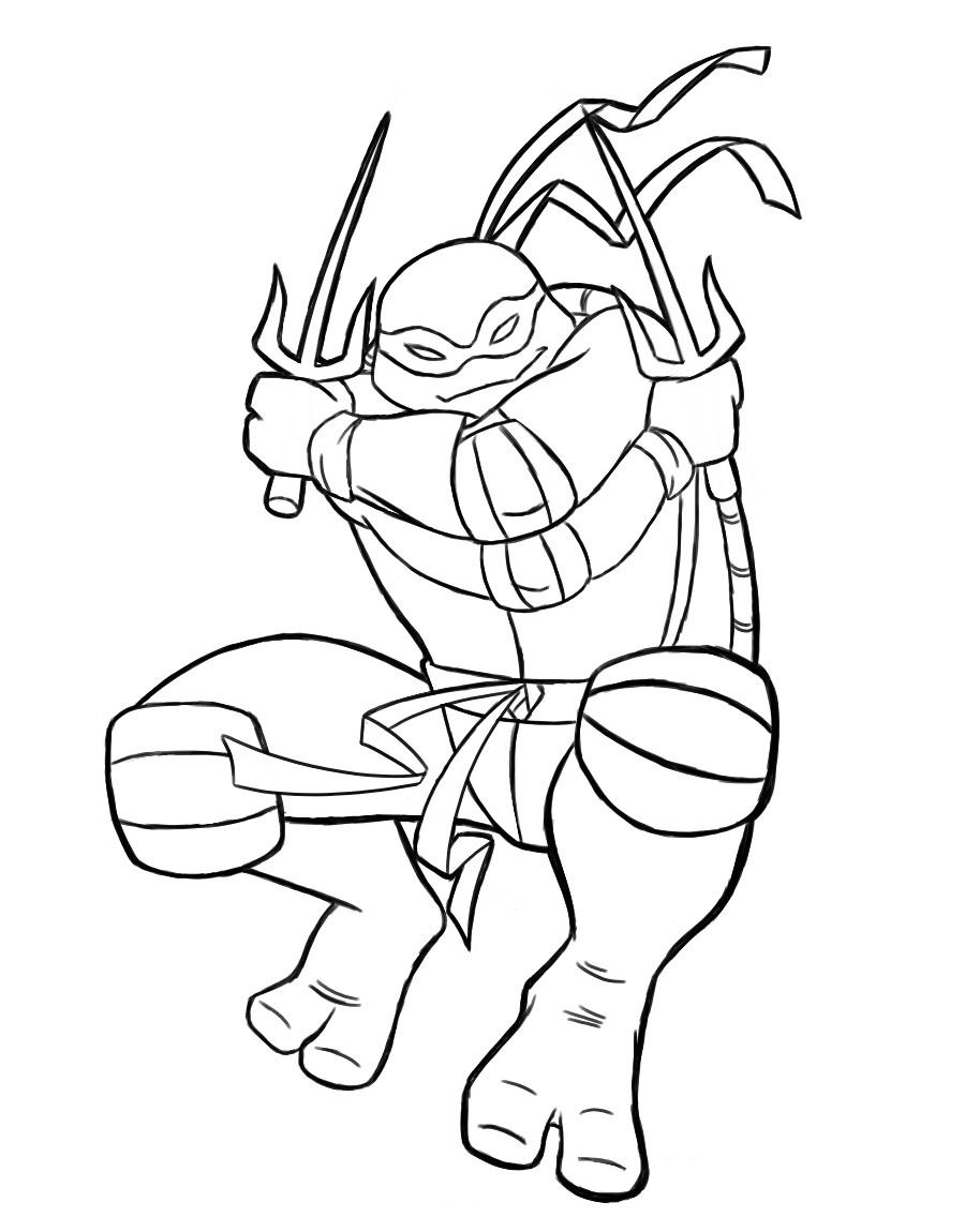 Raphael Teenage Mutant Ninja Turtles Coloring Pages encequiconcerne Dessin De Tortue Ninja
