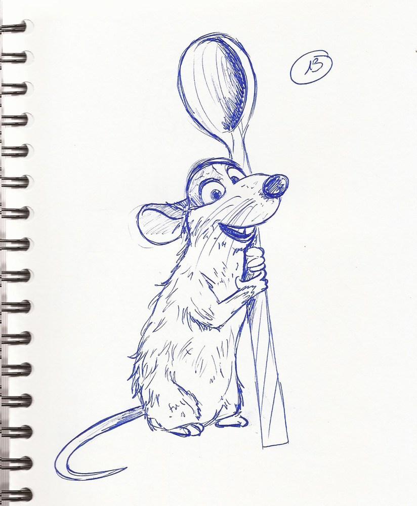 Rauille - dedans Dessin Ratatouille