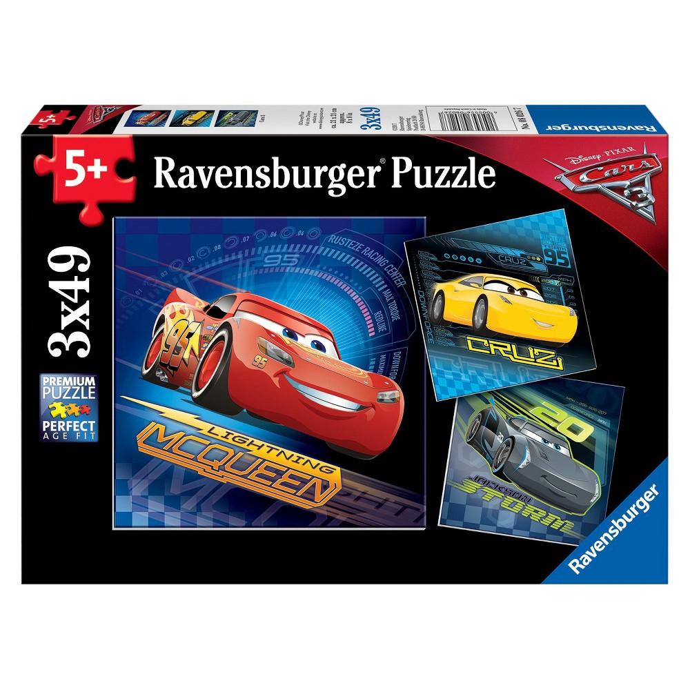 Ravensburger Disney Cars 3: Cars 3 - 3 X 49Pc Puzzles In A pour Puzzle 5 Ans En Ligne